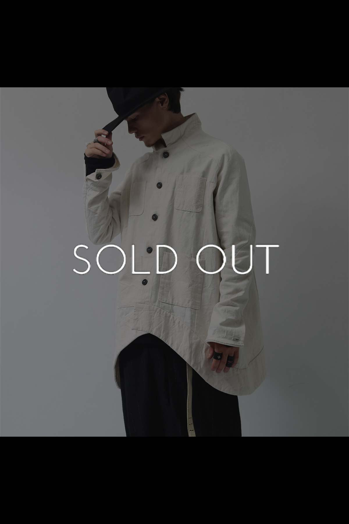 OVERSIZED ASYMMETRY JACKET TQB517-A38_OFF WHITE