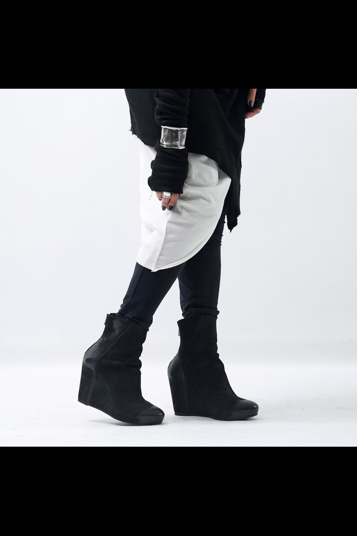 WEDGED LEATHER BOOTS TLC1796_BLACK