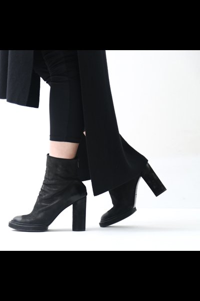 HEEL LEATHER ANKLE BOOTS TLC1683_BLACK