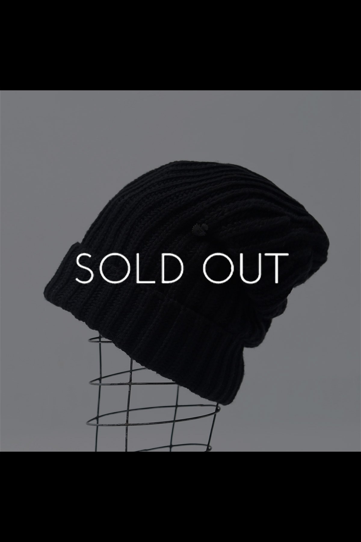 KNIT CAP M08_BLACK