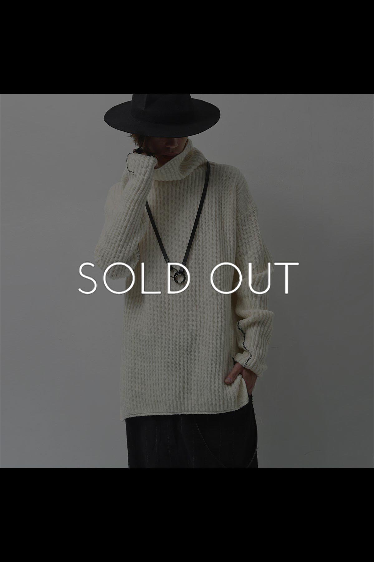 HIGHT NECK KNIT TOP MK72_OFF WHITE