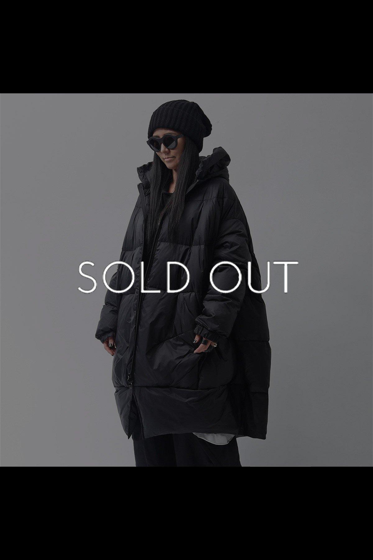 OVERSIZED LONG DOWN COAT 100 1206_BLACK