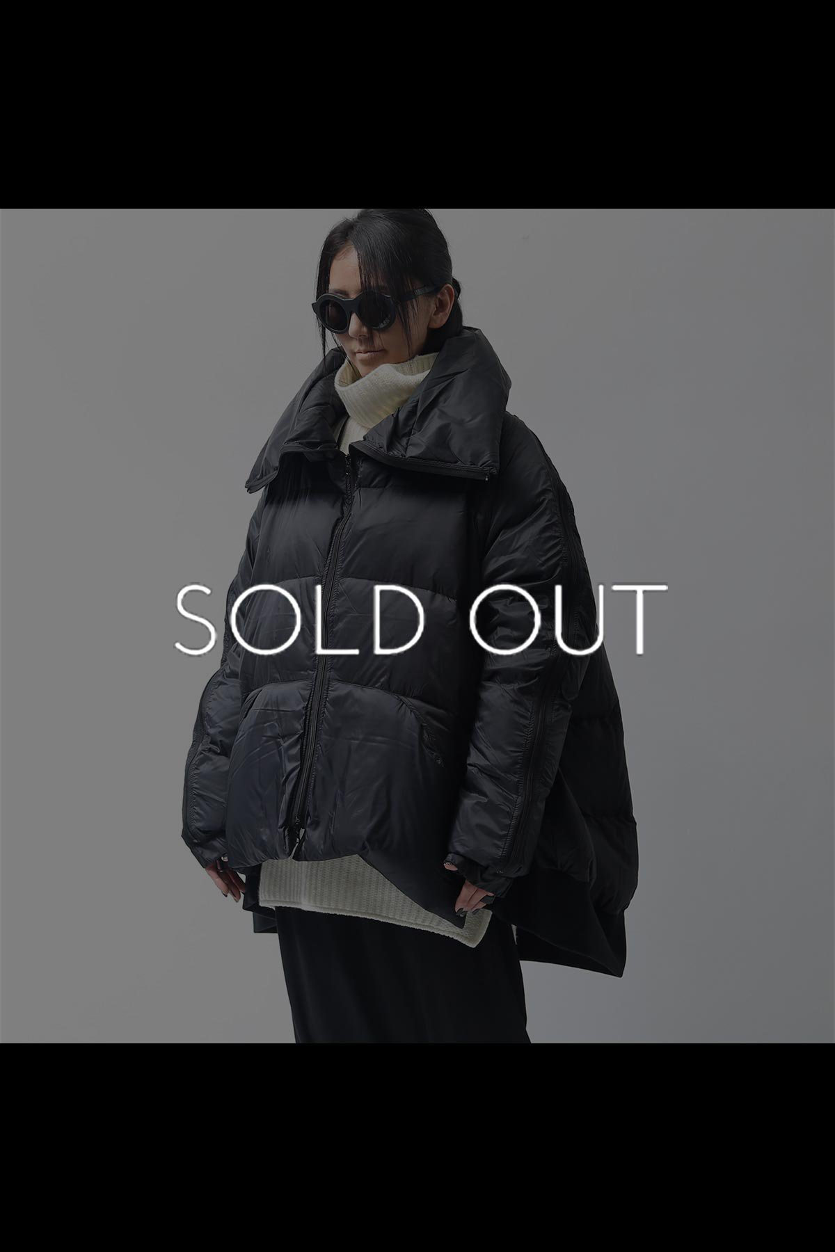 OVERSIZED DOWN JACKET 100 1101_BLACK