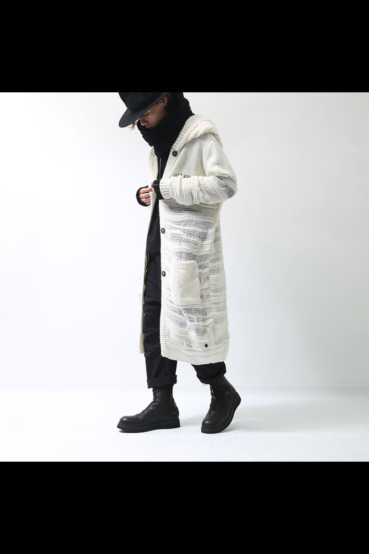 <img class='new_mark_img1' src='https://img.shop-pro.jp/img/new/icons8.gif' style='border:none;display:inline;margin:0px;padding:0px;width:auto;' />MIXED RIB KNIT HOODIE M02_BIANCO