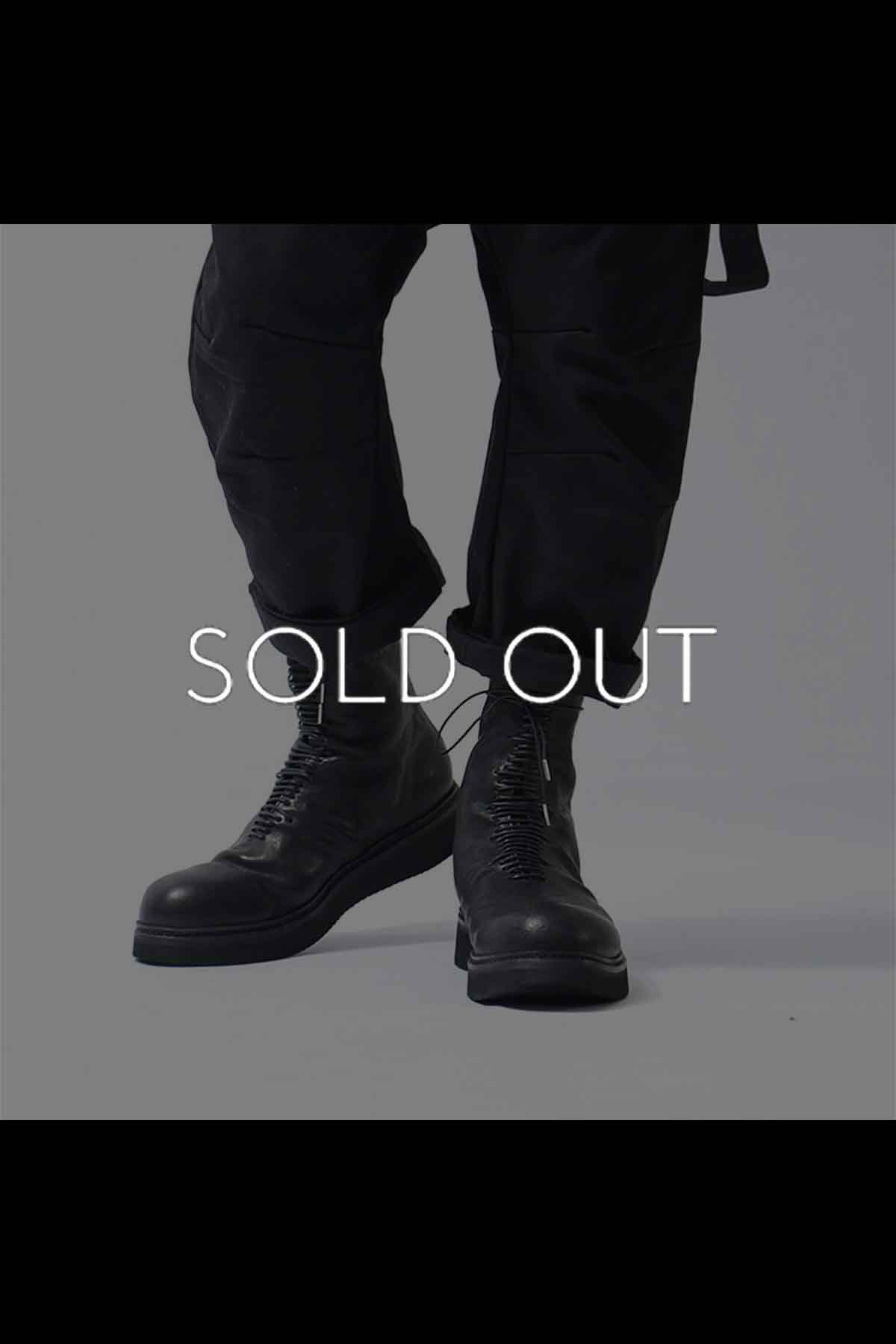 LACE UP LEATHER BOOTS PQ03M_BLACK