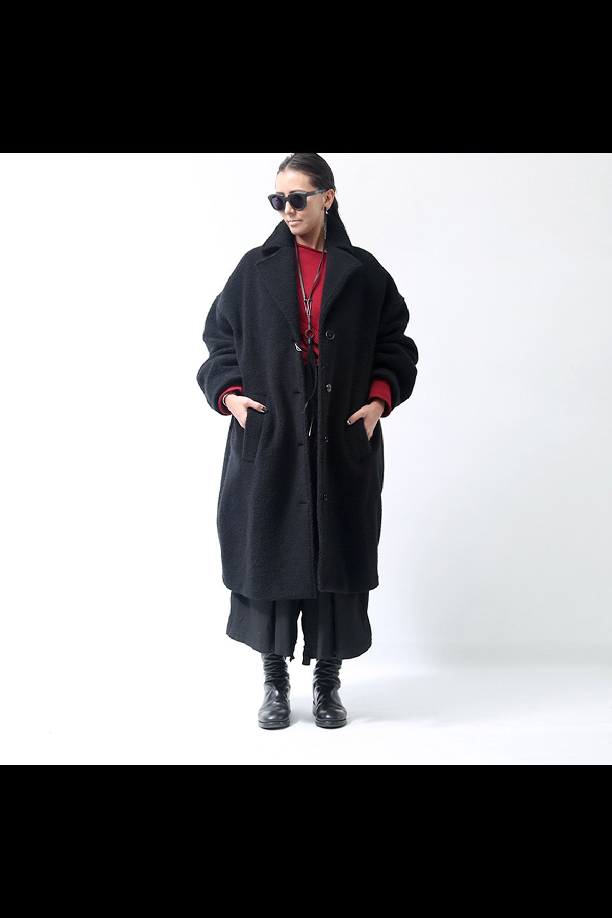 MM6 Maison Margiela_TEDDY BEAR BOA COAT S32AA0146_BLACK