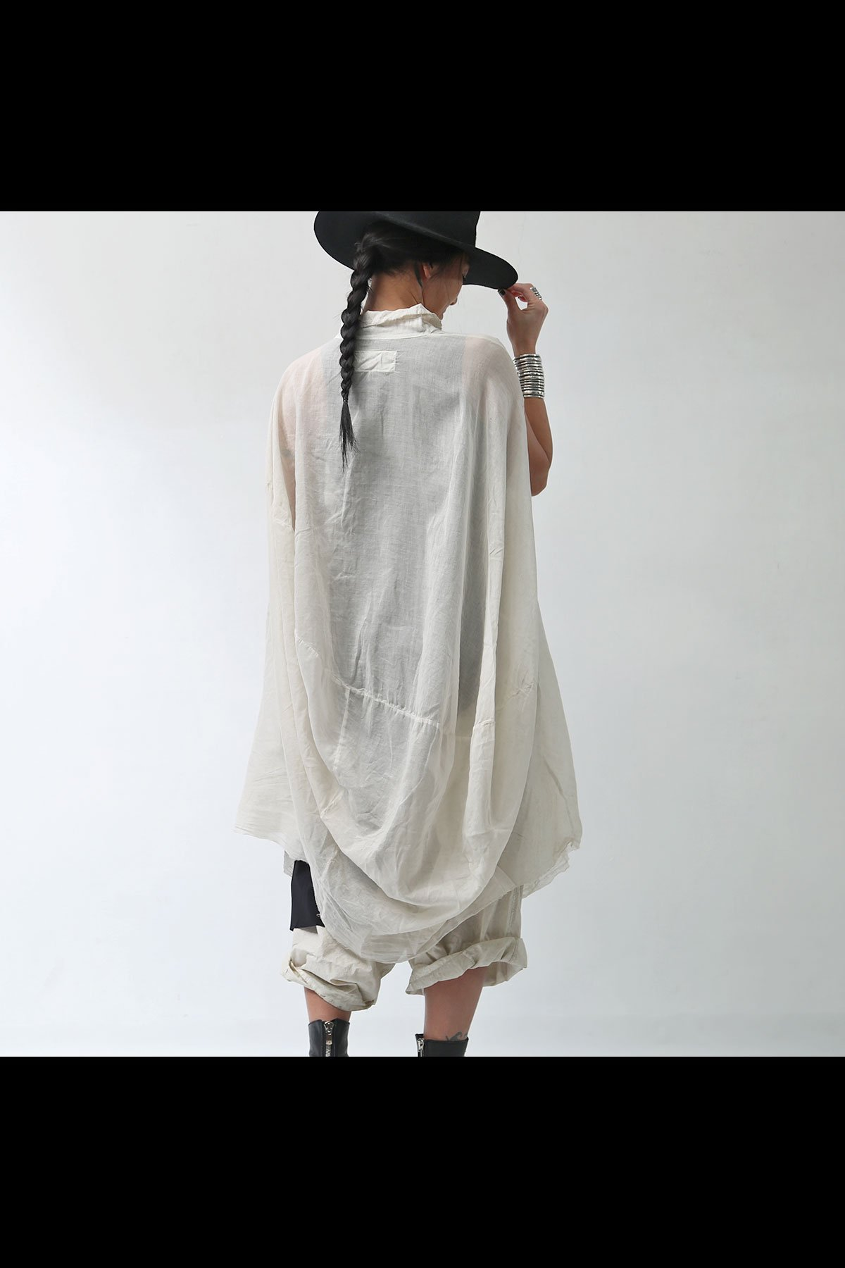 BACK DRAPE LONG SHIRT 258 0908_MARBLE(BEIGE)
