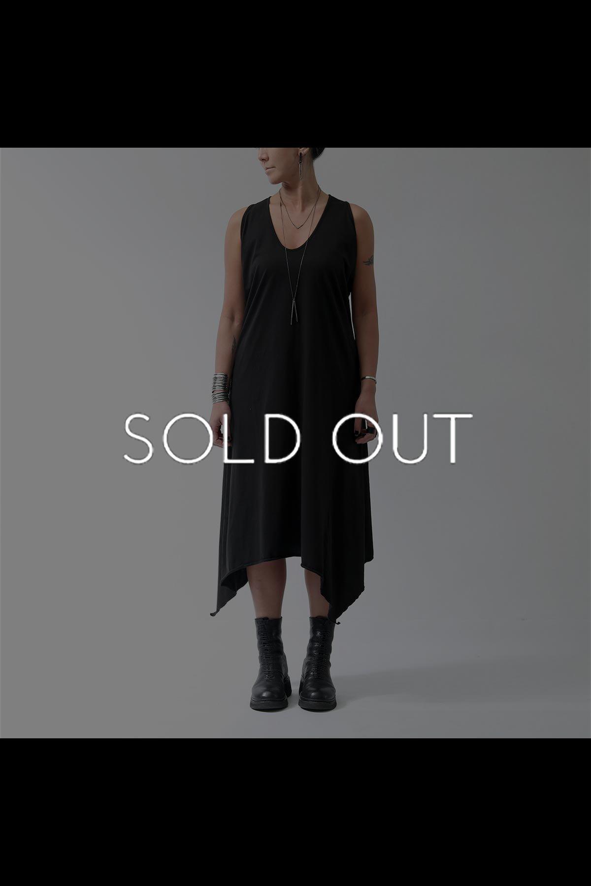 SLEEVELESS LONG DRESS  533RO_BLACK