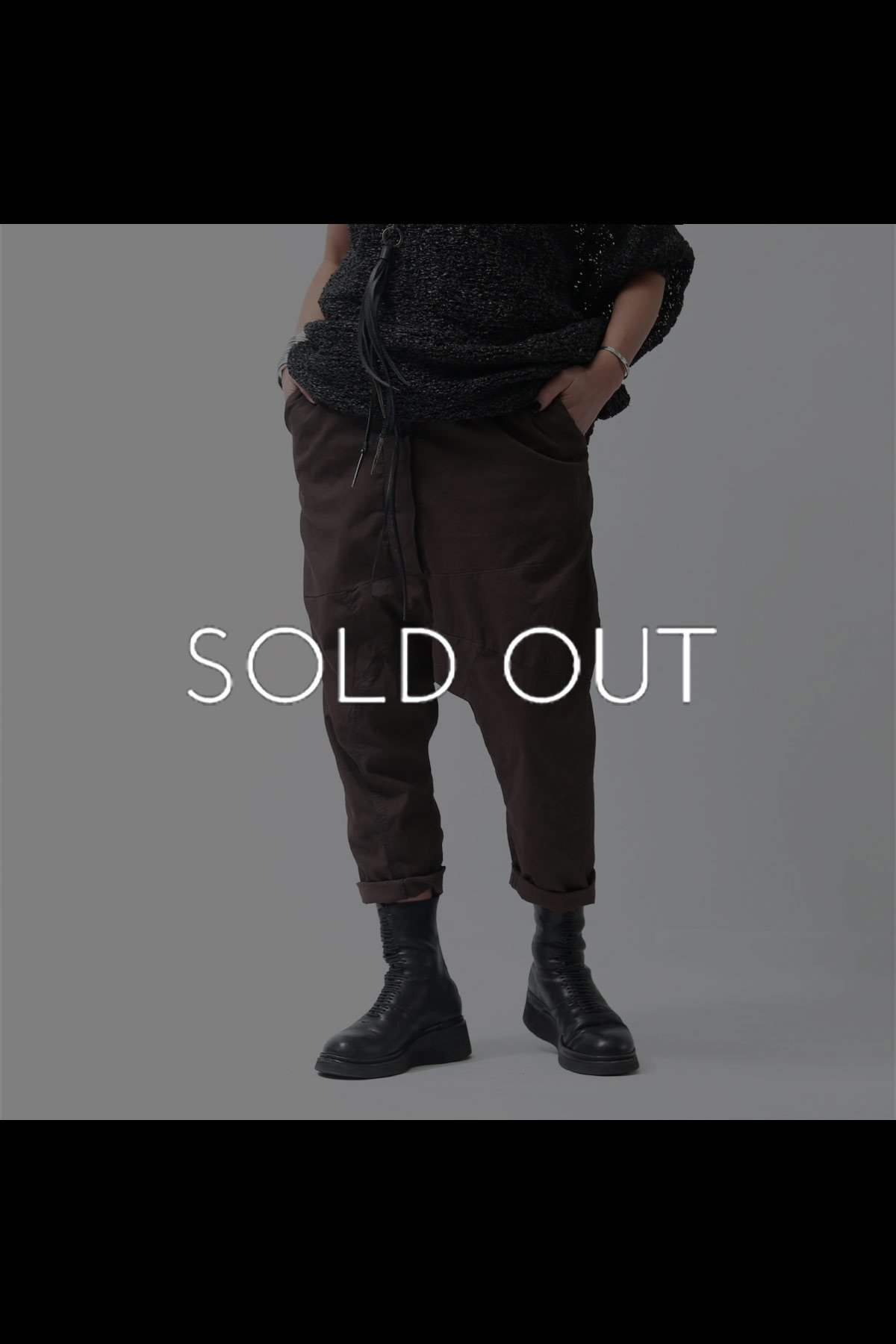 <img class='new_mark_img1' src='https://img.shop-pro.jp/img/new/icons8.gif' style='border:none;display:inline;margin:0px;padding:0px;width:auto;' />UNISEX SARROUEL PANTS 260 0108_RUST(BROWN)