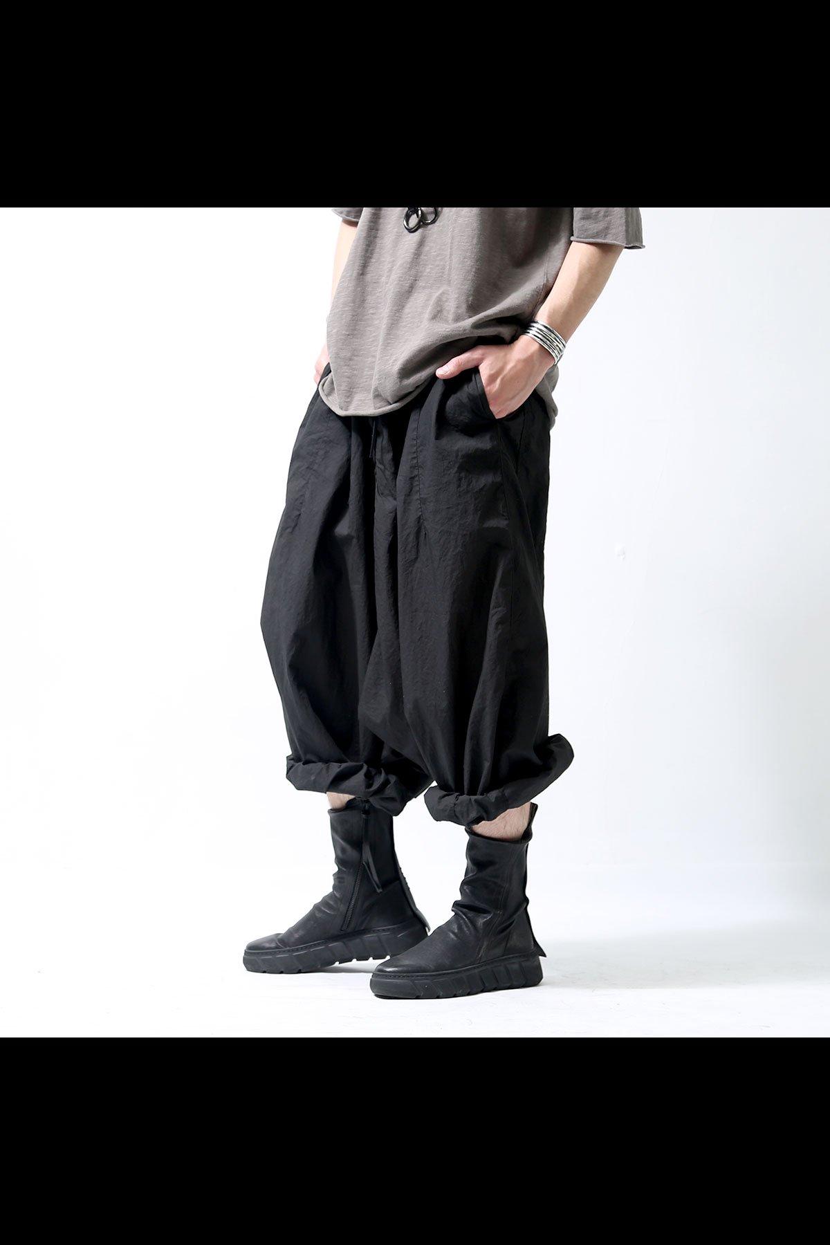 WIDE SARROUEL PANTS 253 0102_BLACK