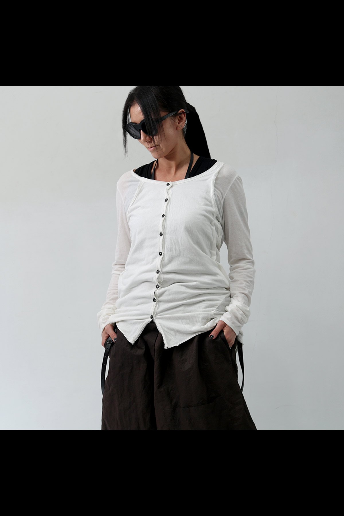 W LAYERED CARDIGAN TOPS 257 1107_CHALK(WHITE)