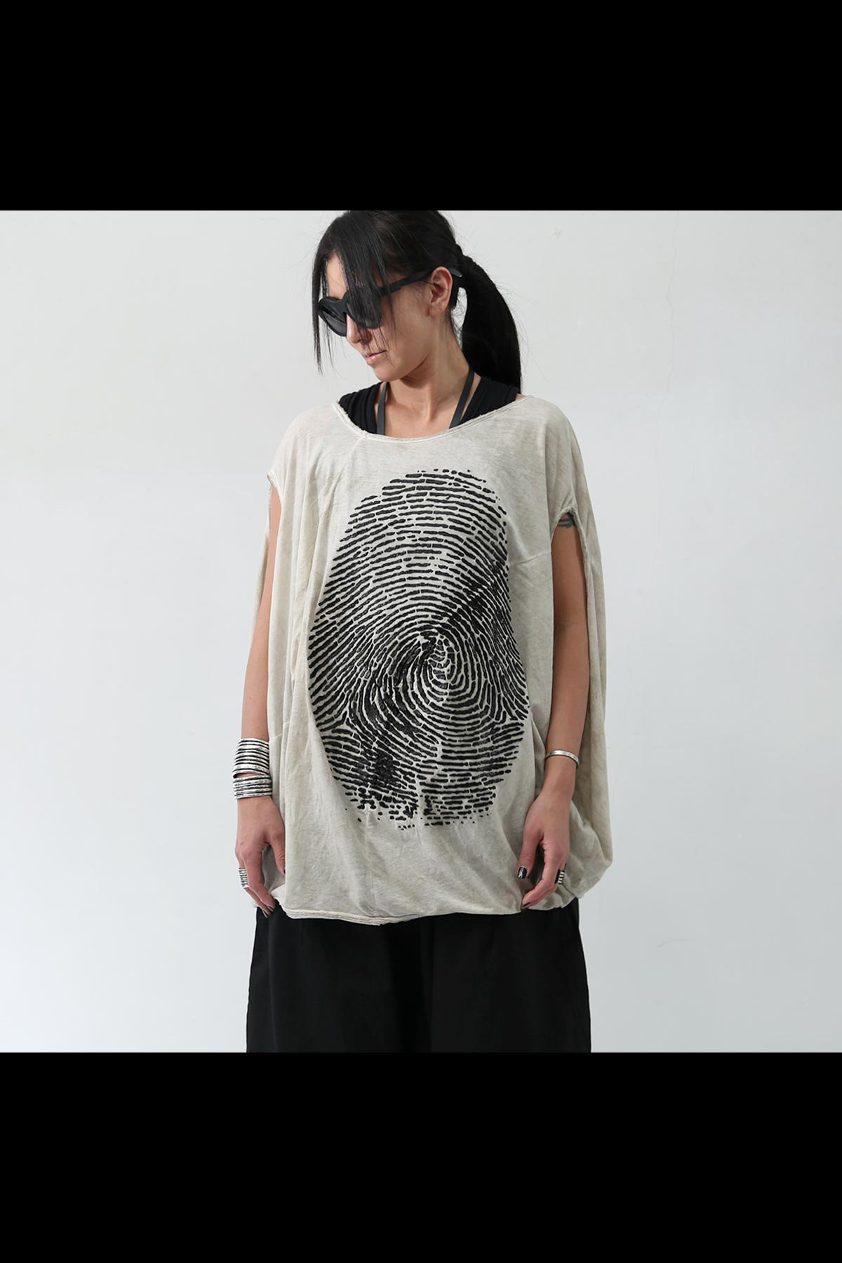 BACK DRAPE FINGERPRINT TOP 257 0509_MARBLE(BEIGE)