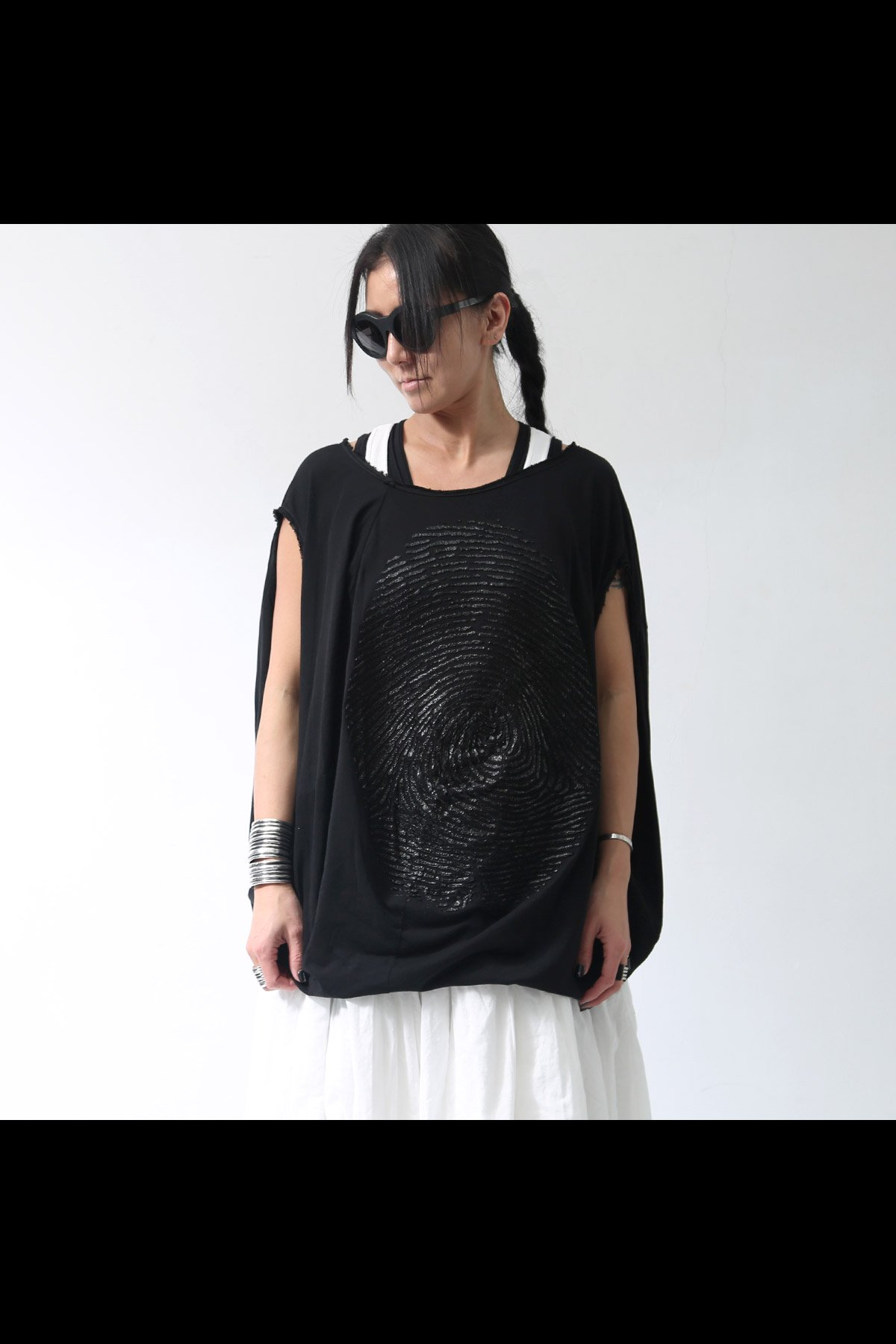 BACK DRAPE FINGERPRINT TOP 257 0509_BLACK