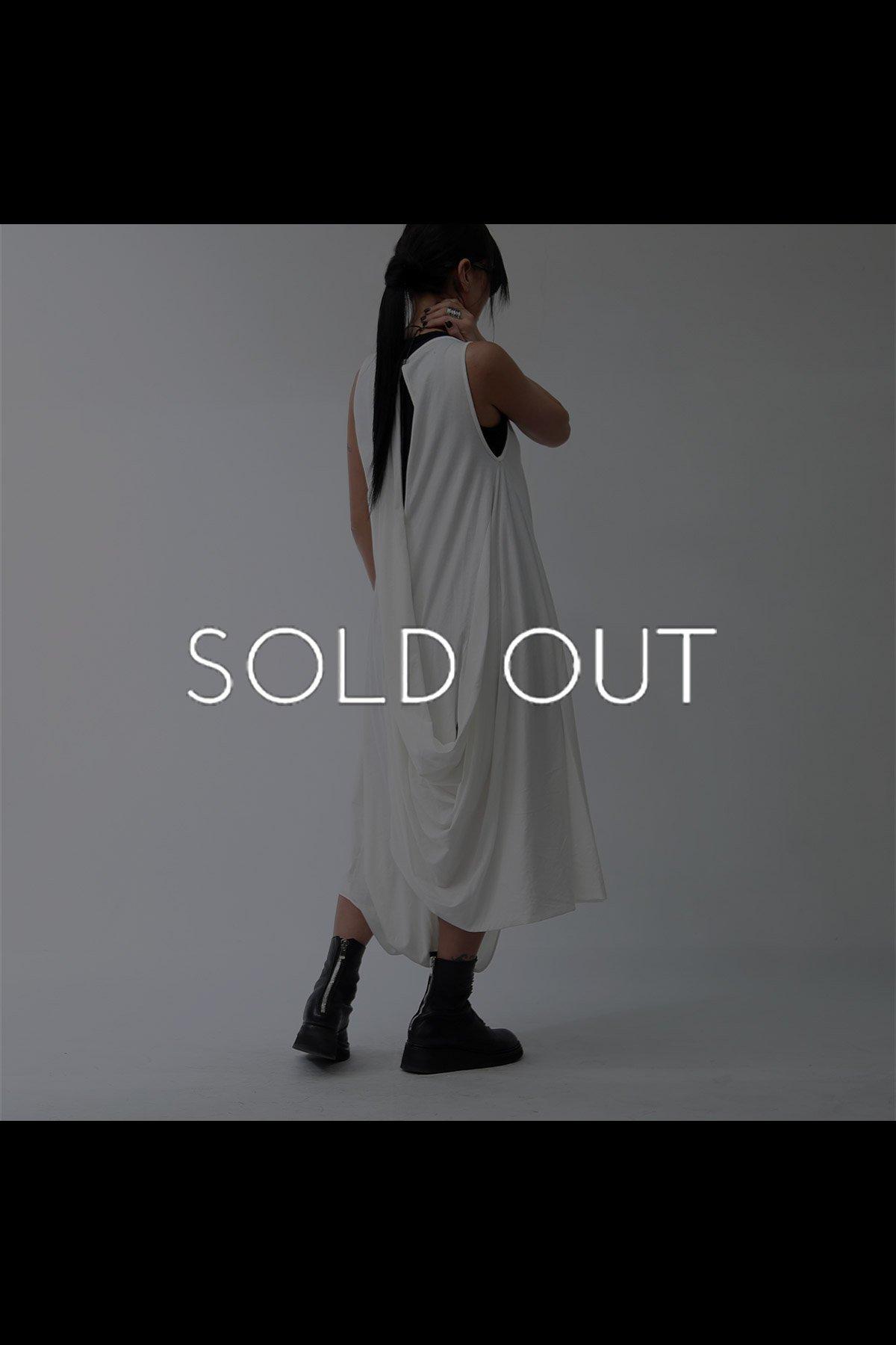 2WAY BACK DRAPE PANTS DRESS  950RO_WHITE
