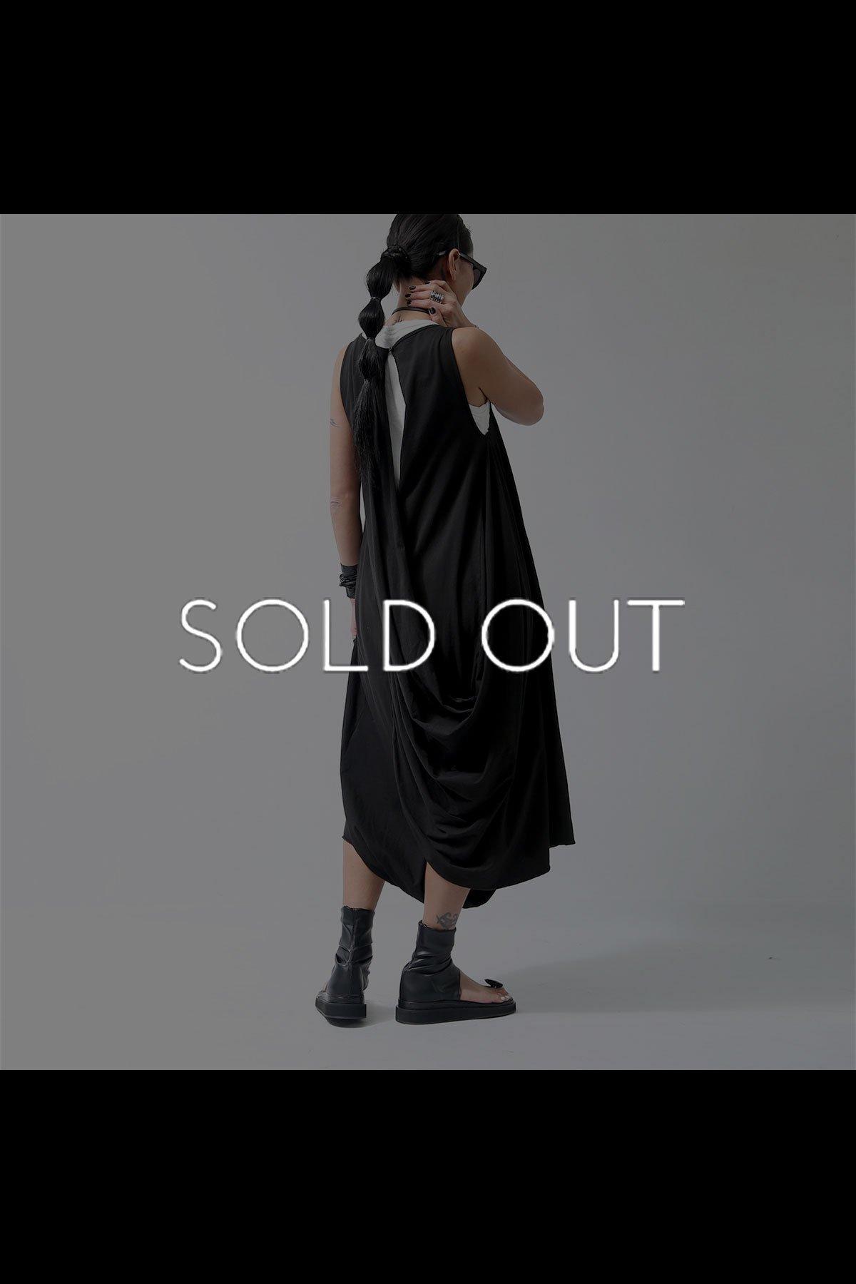 2WAY BACK DRAPE PANTS DRESS  950RO_BLACK