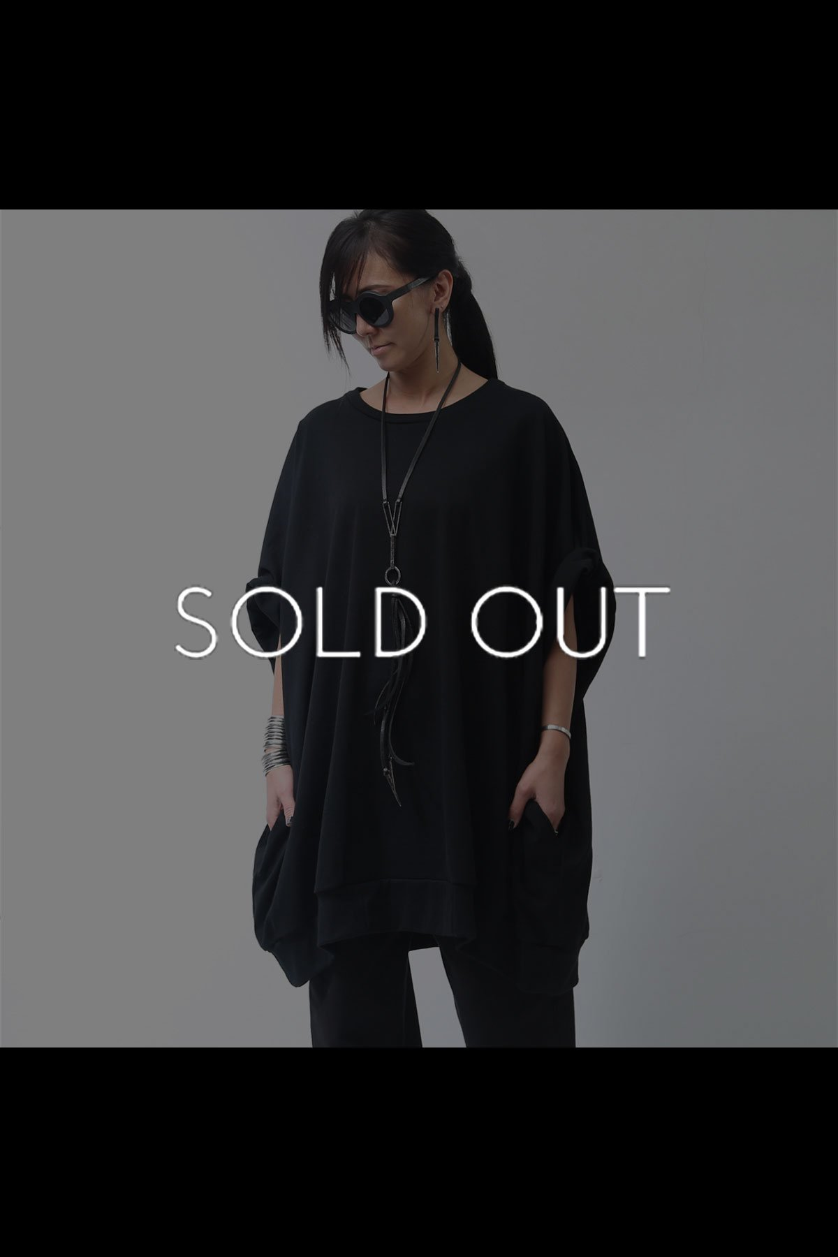 UNISEX OVERSIZED COTTON TOPS 136QK02_BLACK