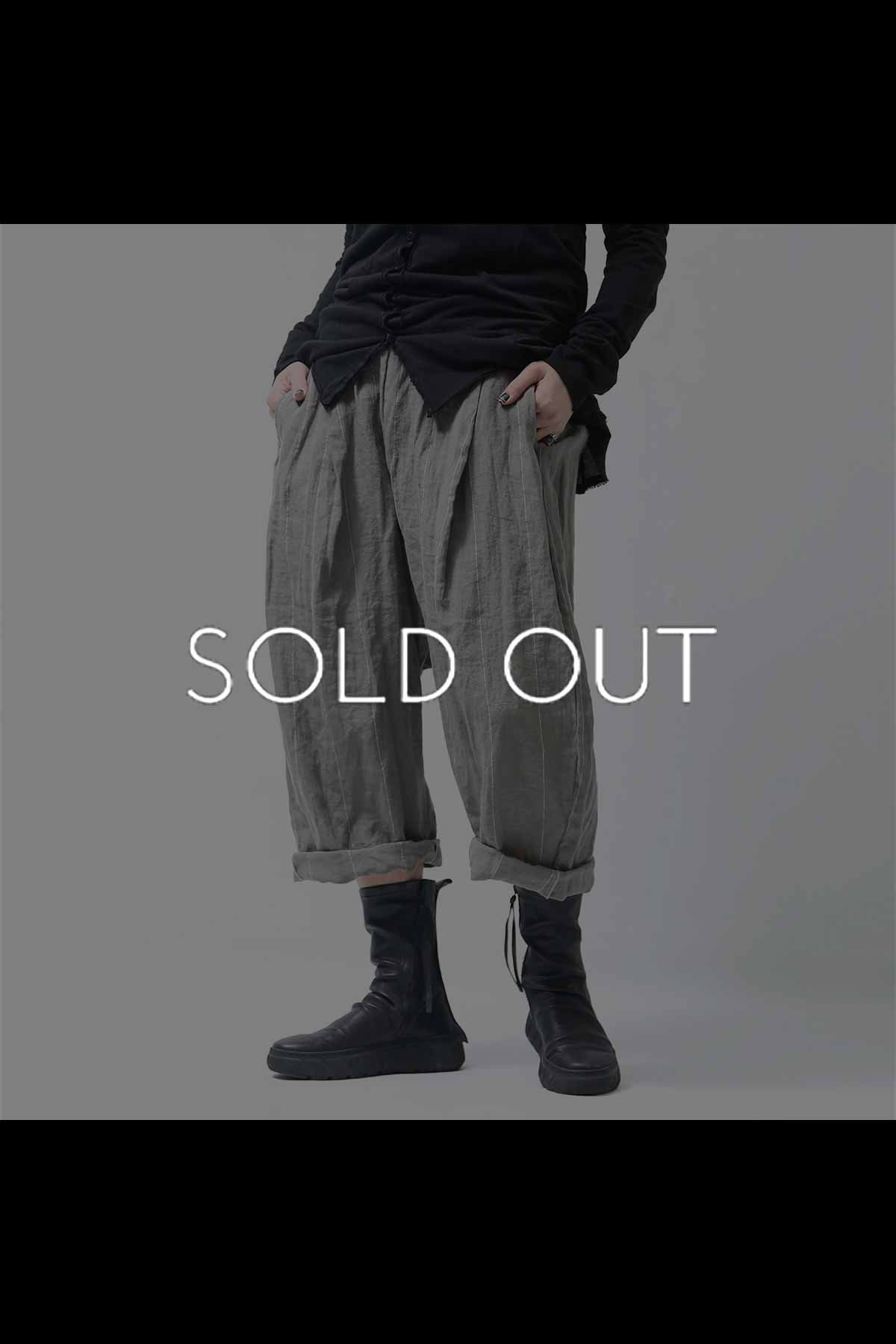 <img class='new_mark_img1' src='https://img.shop-pro.jp/img/new/icons8.gif' style='border:none;display:inline;margin:0px;padding:0px;width:auto;' />UNISEX LINEN WIDE PANTS 136FP03_GREY STRIPE