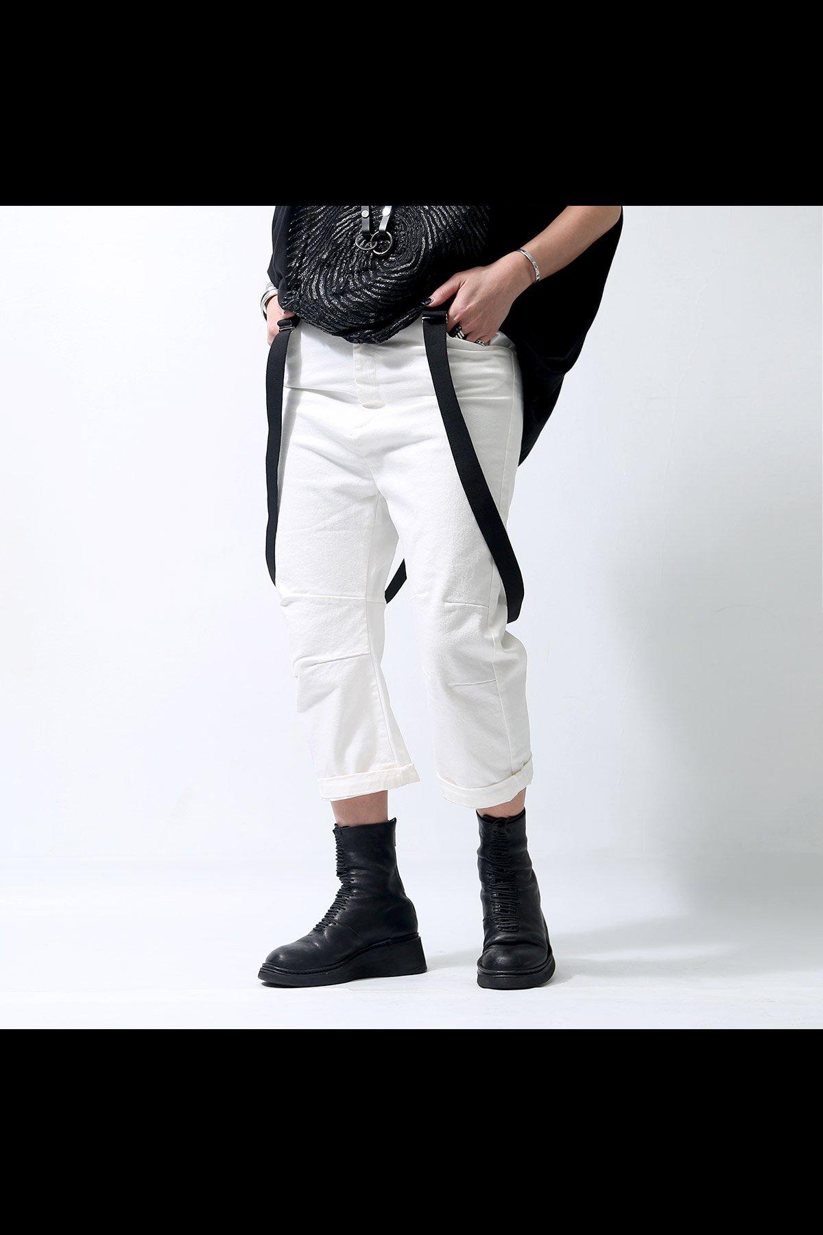 MAVRANYMA SUSPENDER PANTS P48.07_WHITE