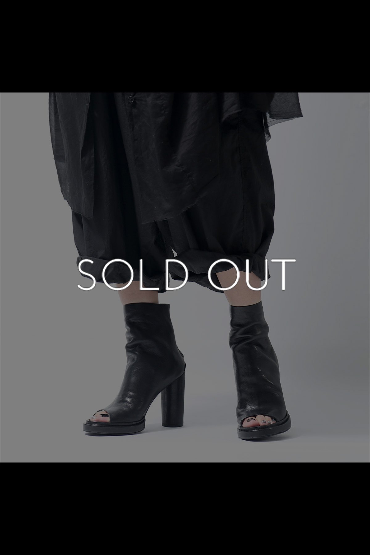 LEATHER ANKLE OPEN TOE BOOTS TLC2263_BLACK