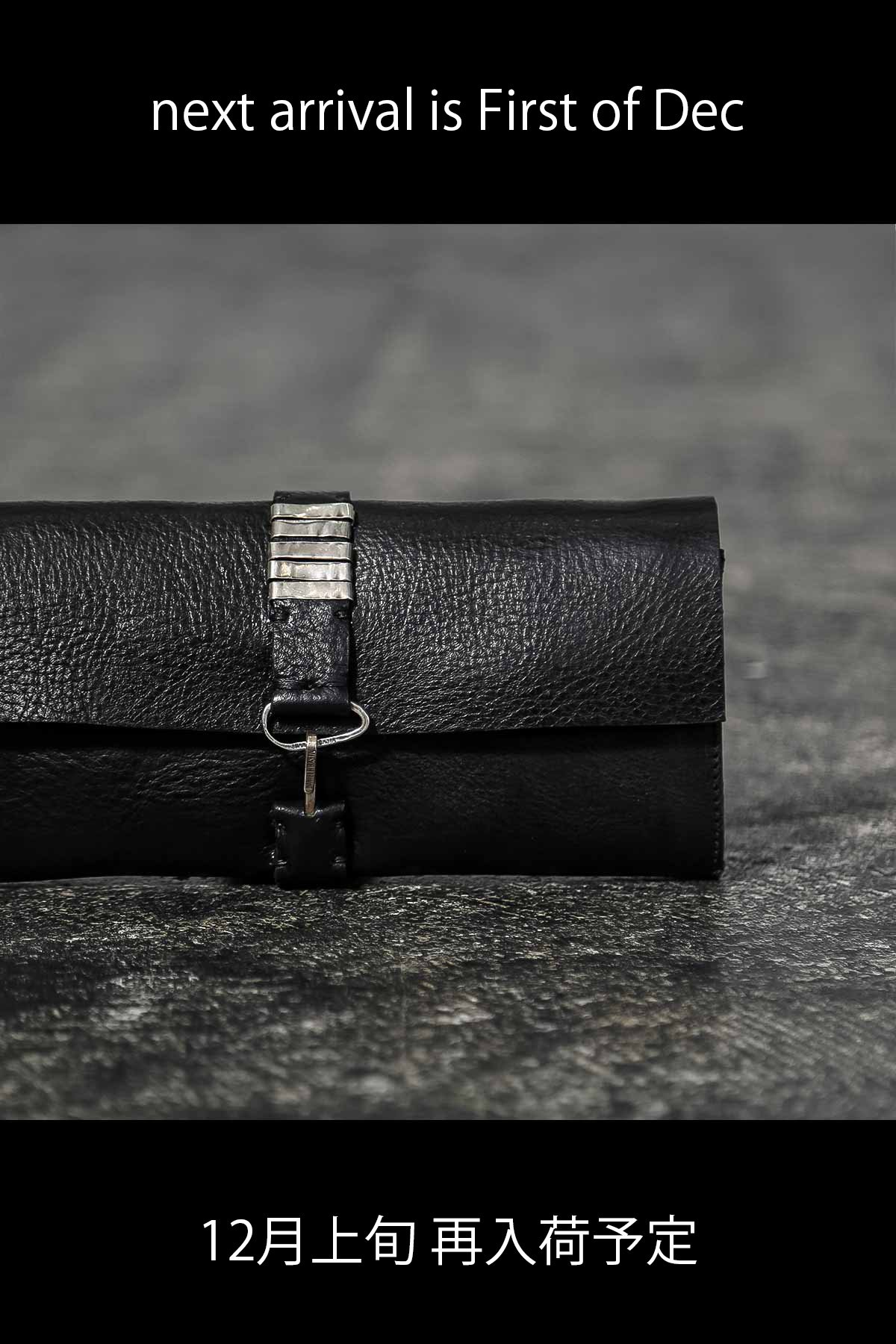 LEATHER LONG WALLET  DB772_BLACK