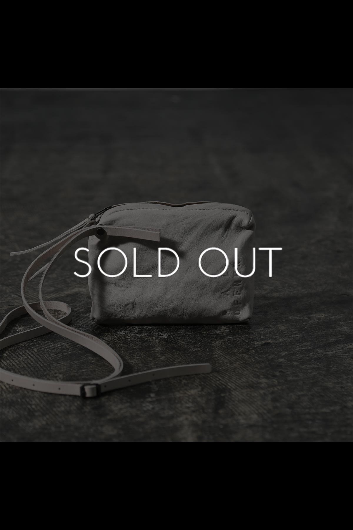 LEAHER SHOULDER POUCH 0000-60-3115_SAND WHITE