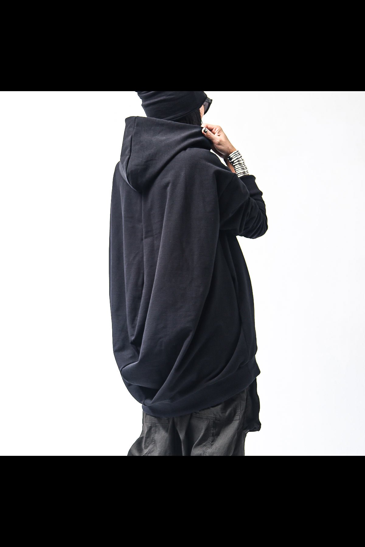 UNISEX SUPER STRETCH SWEAT BACKDRAPE HOODIE 137QK03_BLACK