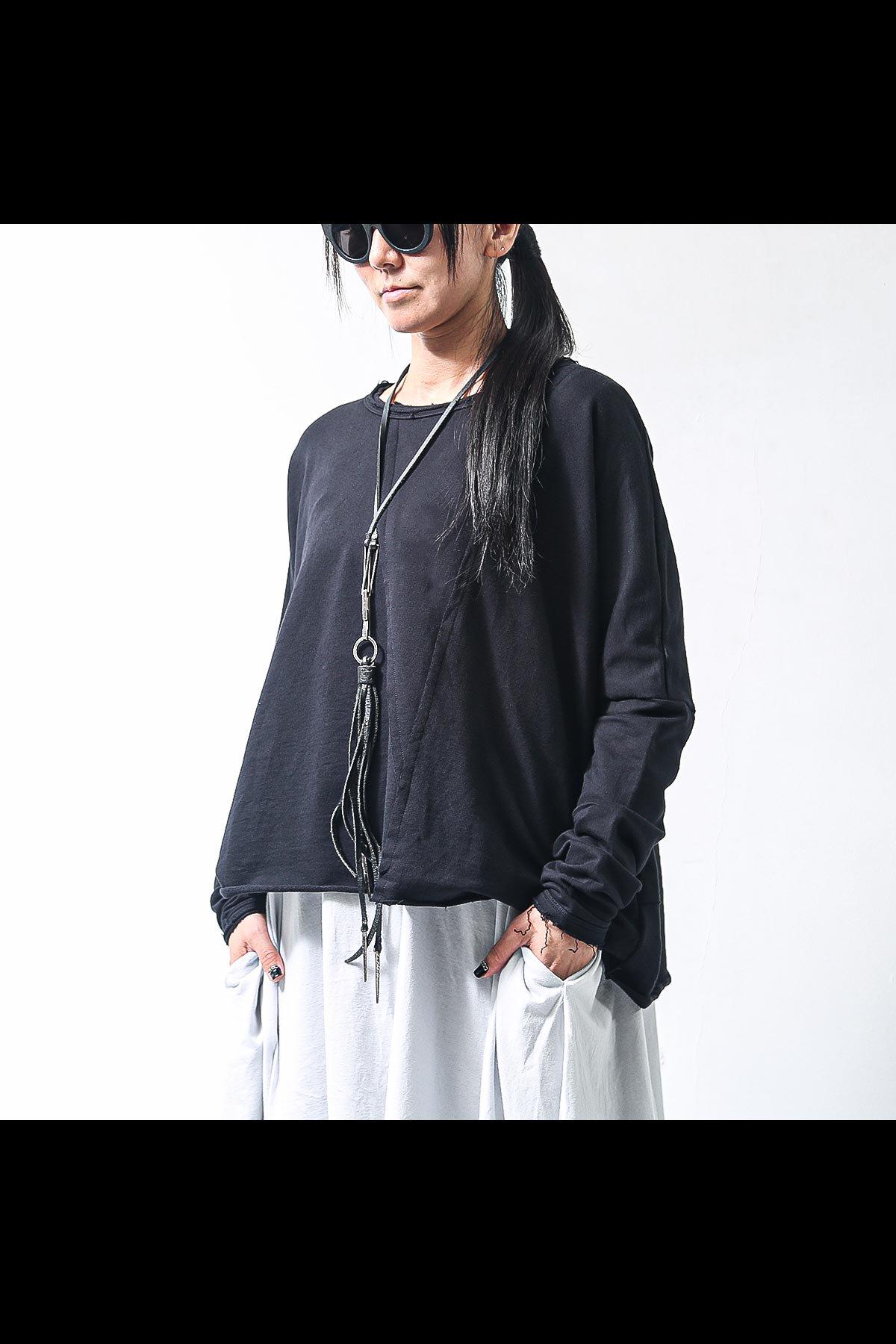 SHORT LENGTH SWEAT TOP SB857/L/M_BLACK