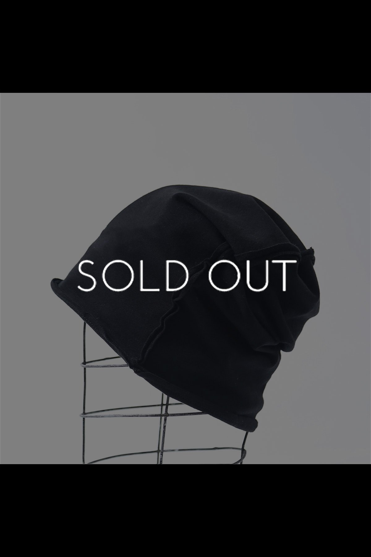 REVERSIBLE COTTON BEANIE CAP 138QG01_BLACK