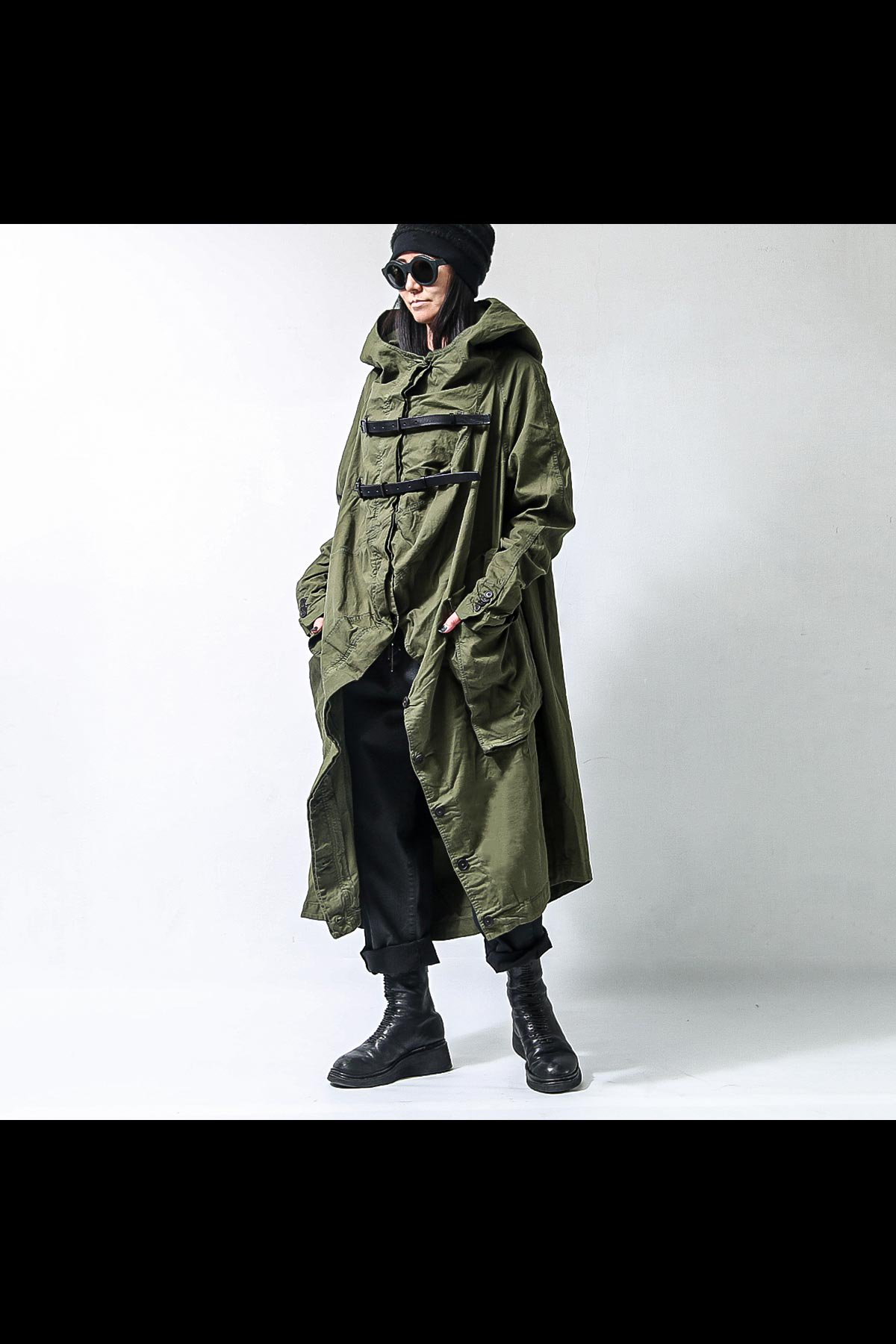 UNISEX BACK DRAPE MODS COAT 260 1211_MOSS(GREEN)