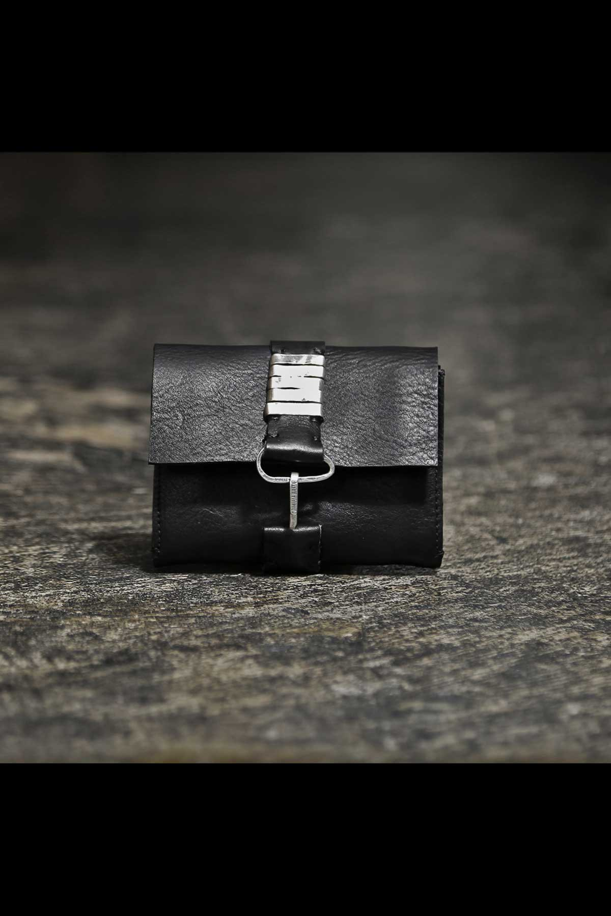 LEATHER COIN&CARD CASE DB789_BLACK