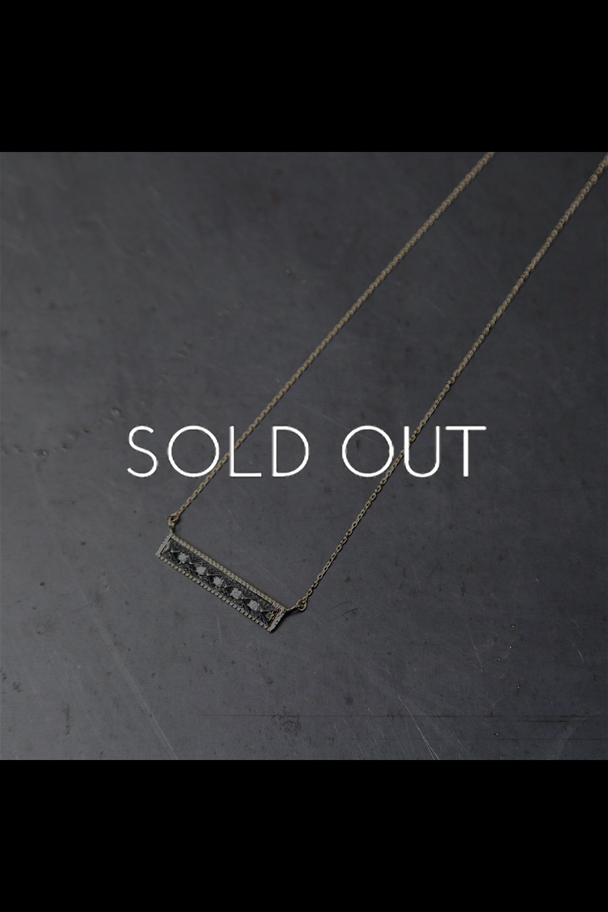 STUDS DIAMOND NECKLACE 71A-SN-M_K10+SIL925