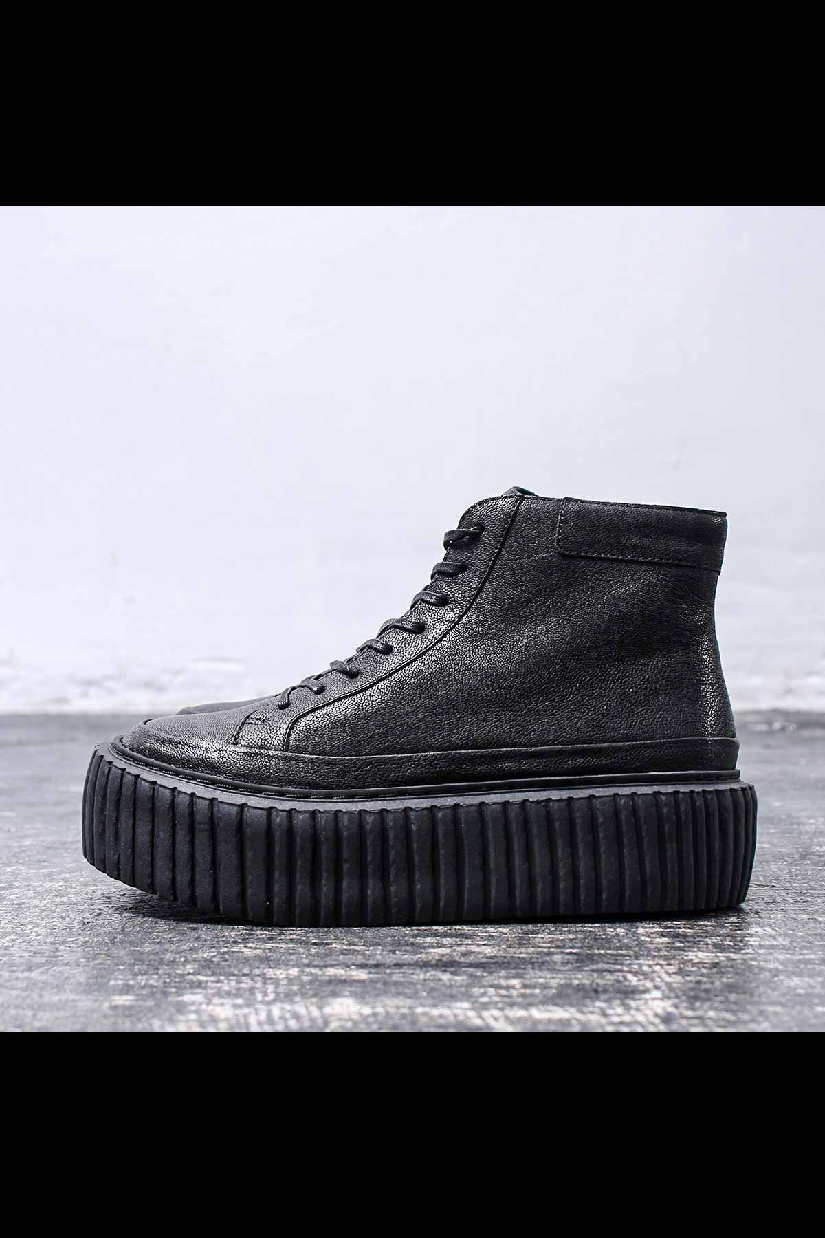 MID RUBBER SOLE  SNEAKER 146 5261_BLACK