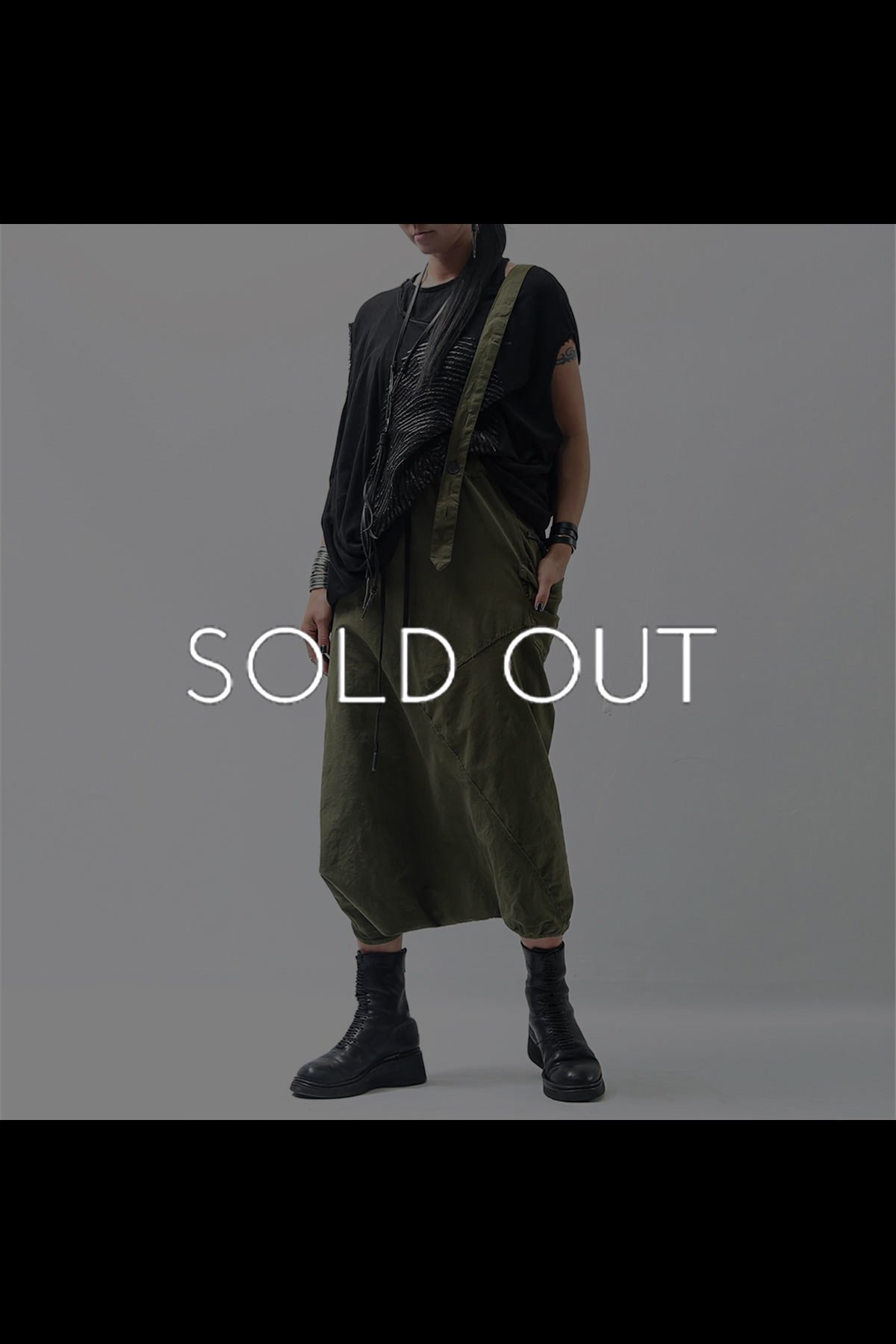 UNISEX ONE SHOULDER PANTS BAR71_MILITARY