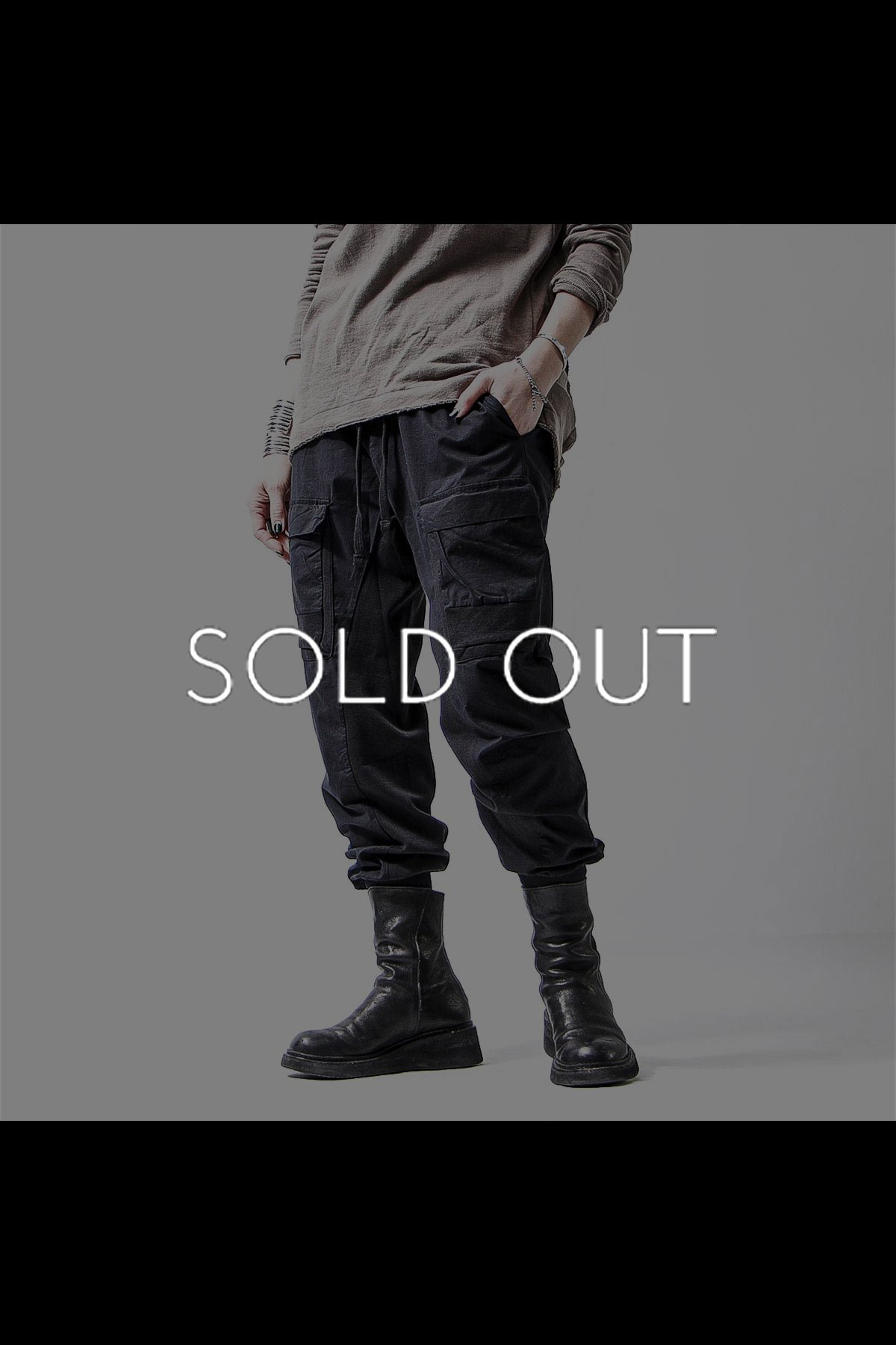 <img class='new_mark_img1' src='https://img.shop-pro.jp/img/new/icons8.gif' style='border:none;display:inline;margin:0px;padding:0px;width:auto;' />UNISEX PATCHED POCKET RIB PANTS MST237_BLACK