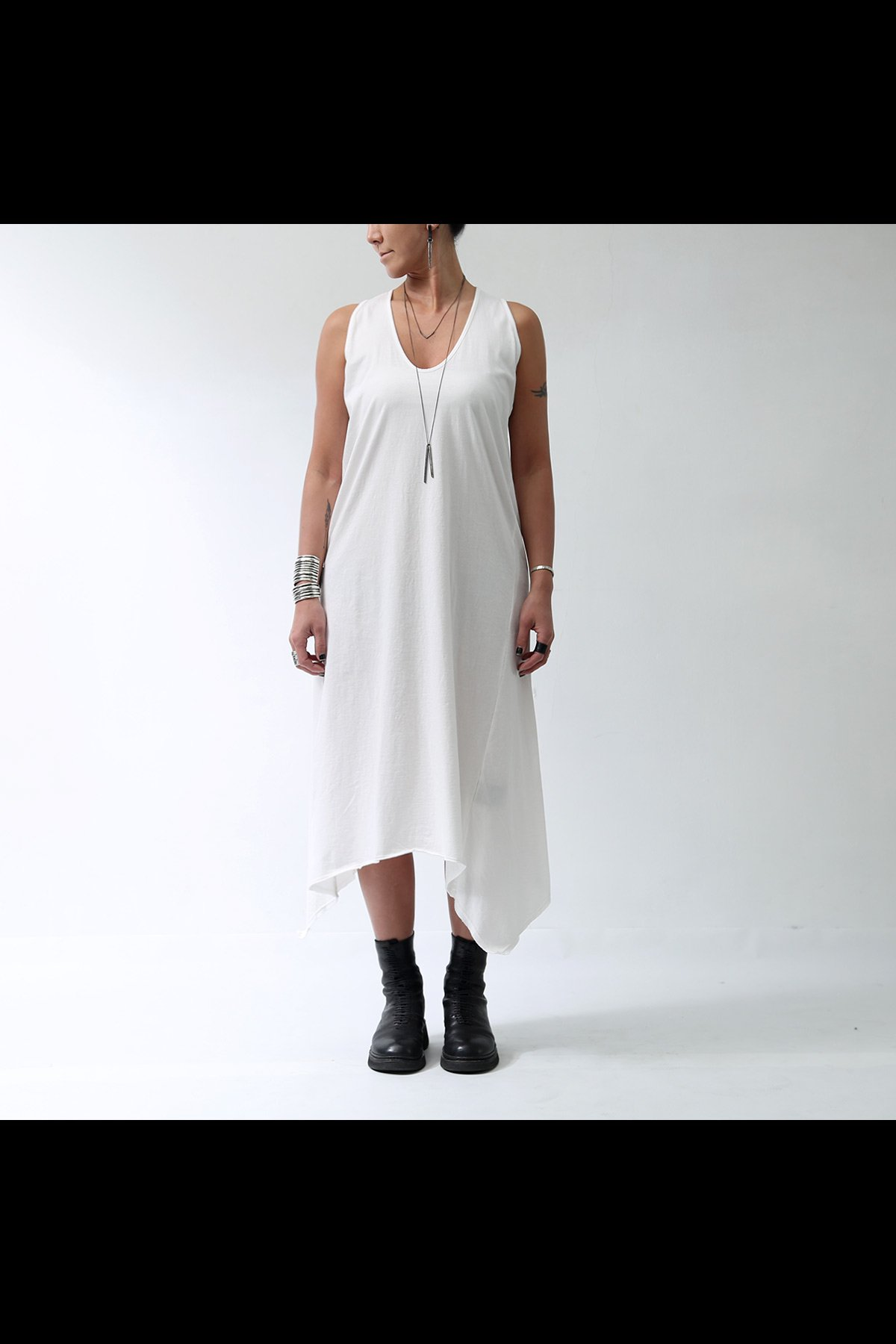 SLEEVELESS LONG DRESS  533RO_WHITE