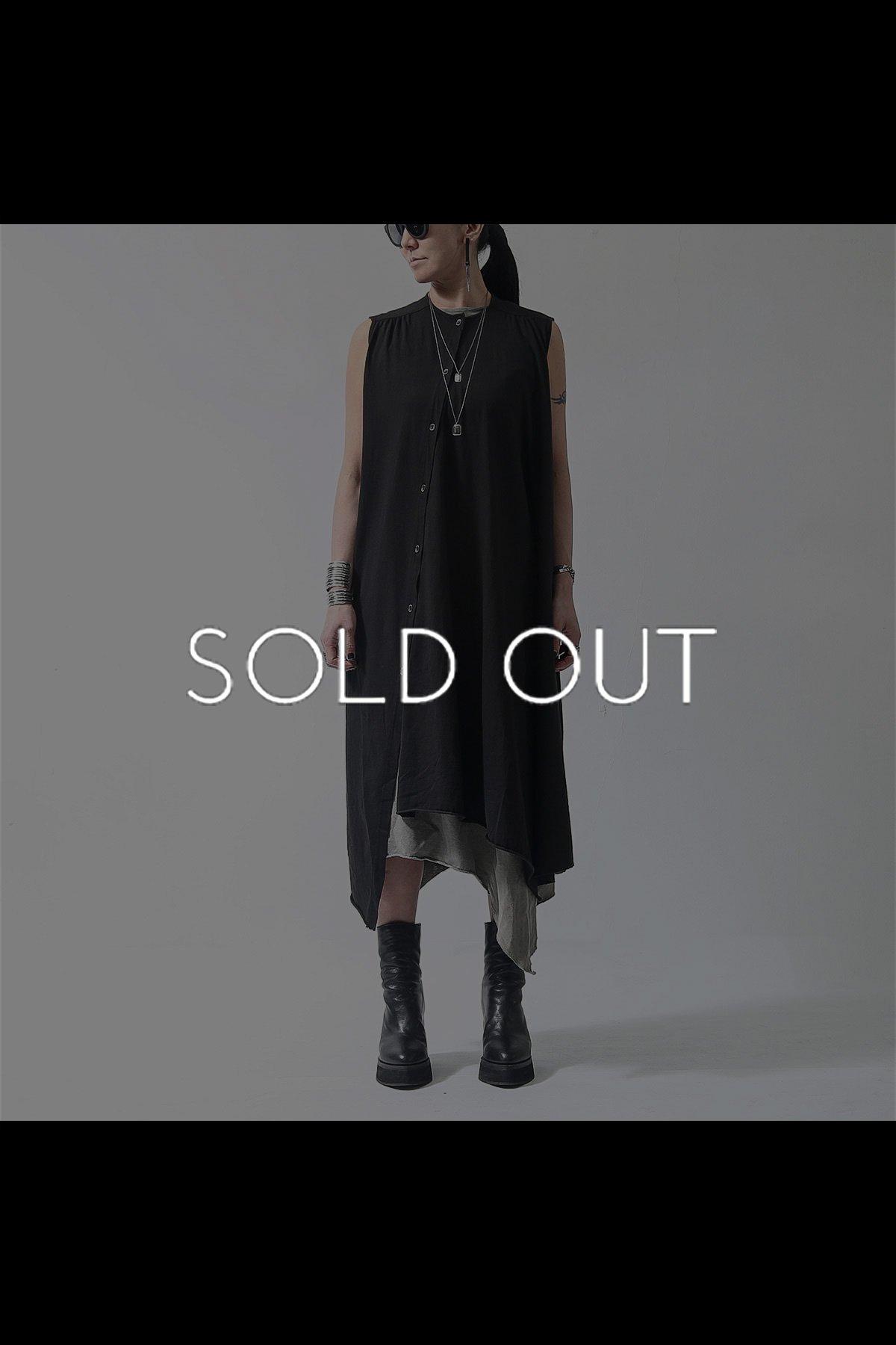2WAY SLEEVELESS BUTTON DRESS 252RO_BLACK