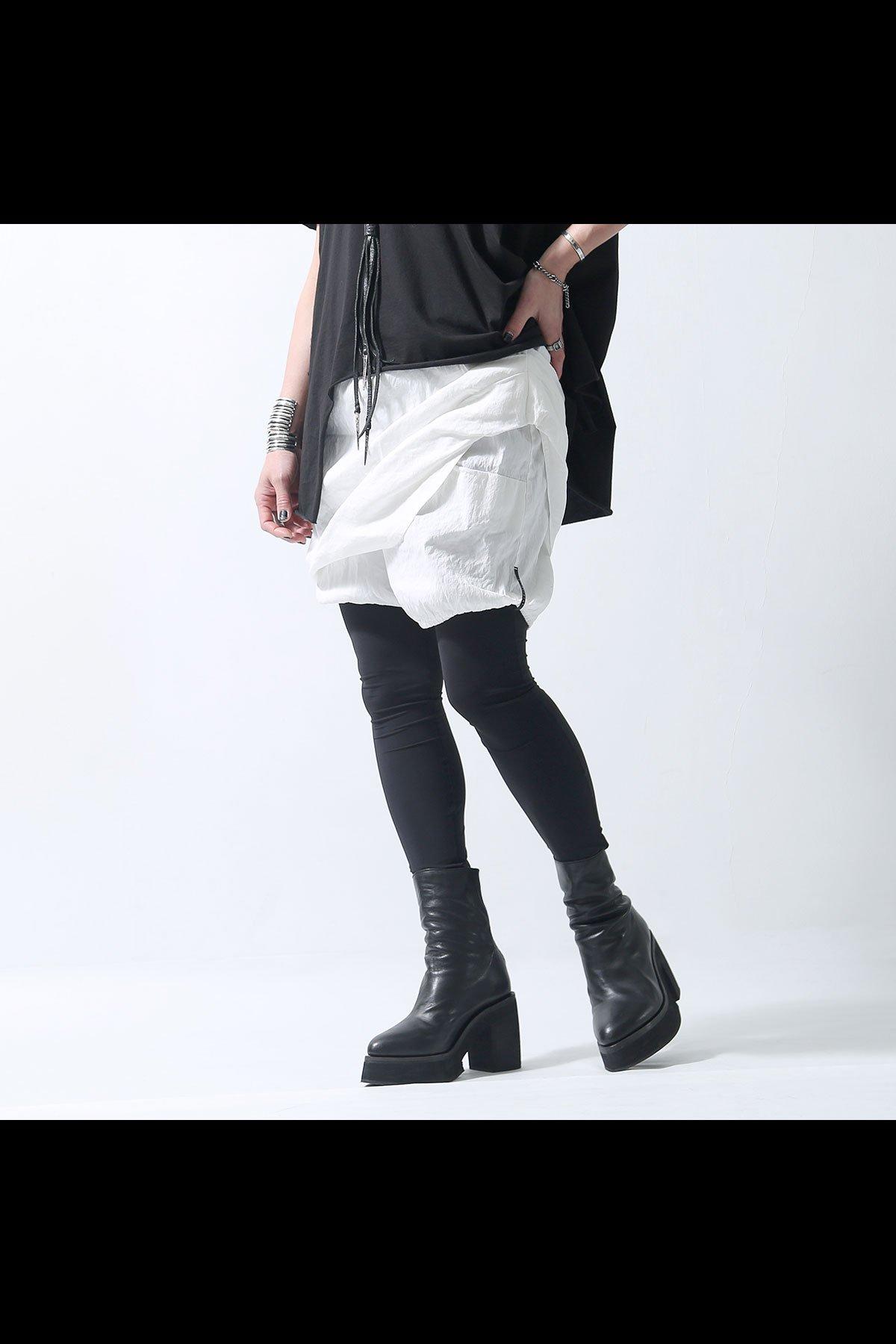 COVERED SHORT PANTS 203TA_WHITE
