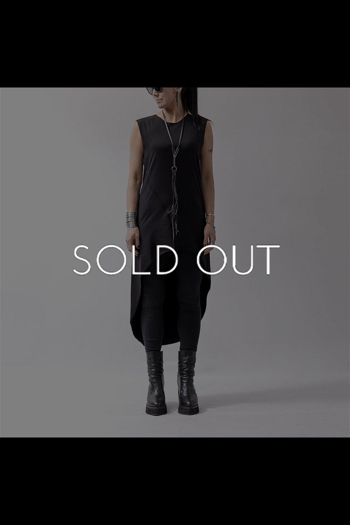 ASYMMETRIC LONG TANK DRESS D61_BLACK
