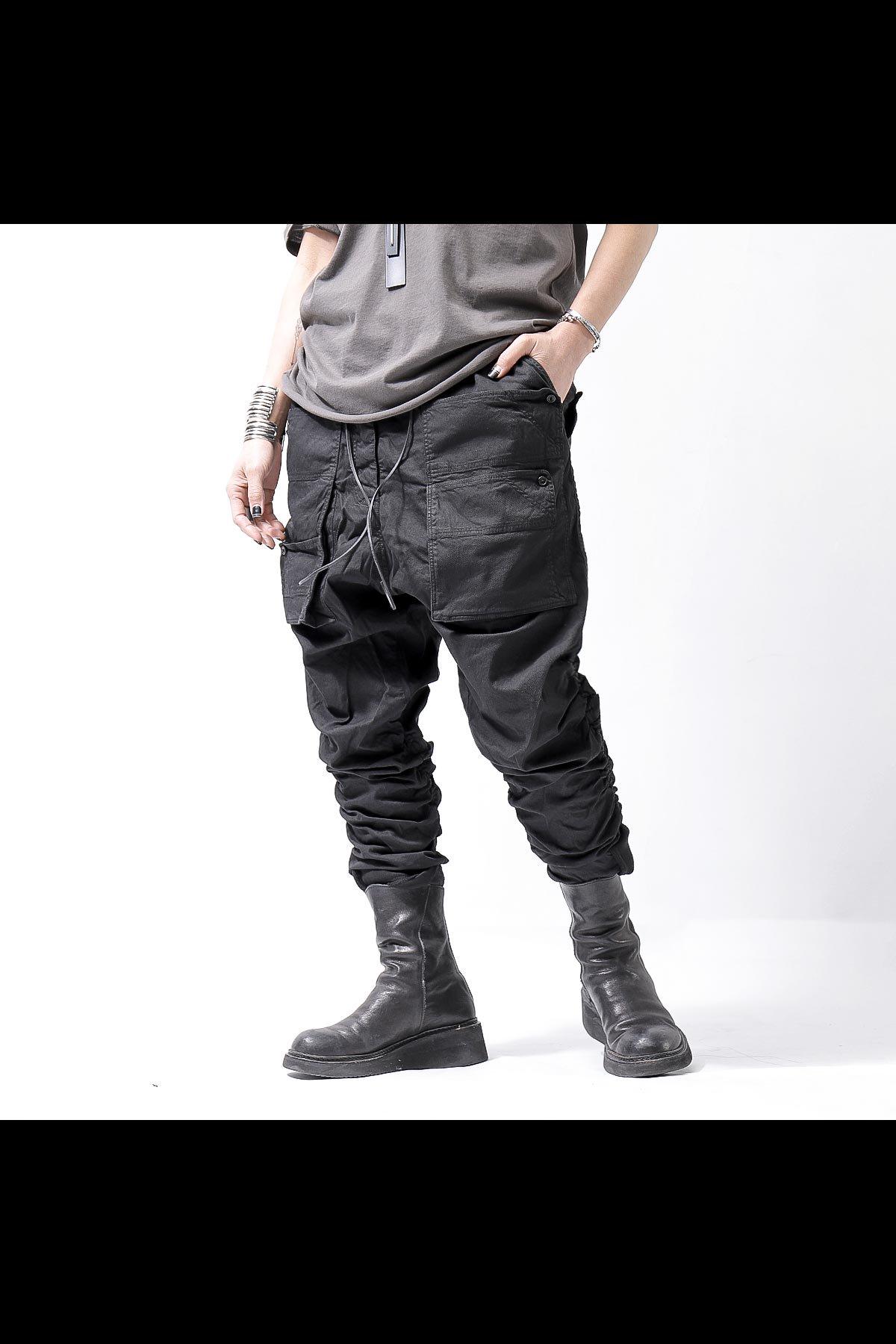 UNISEX FRONT POCKETED PANTS 260 0104_BLACK