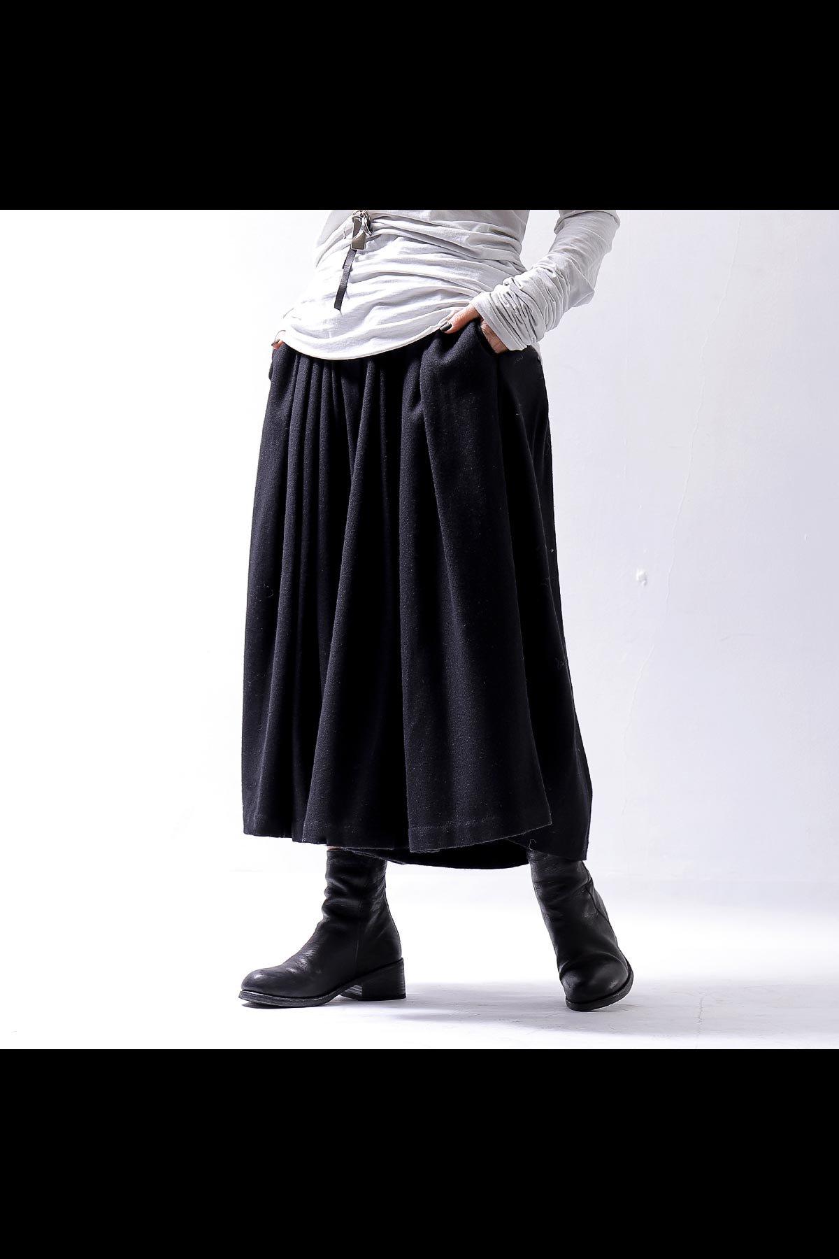 MEGA-WIDE SKIRT PANTS 100CH_BLACK