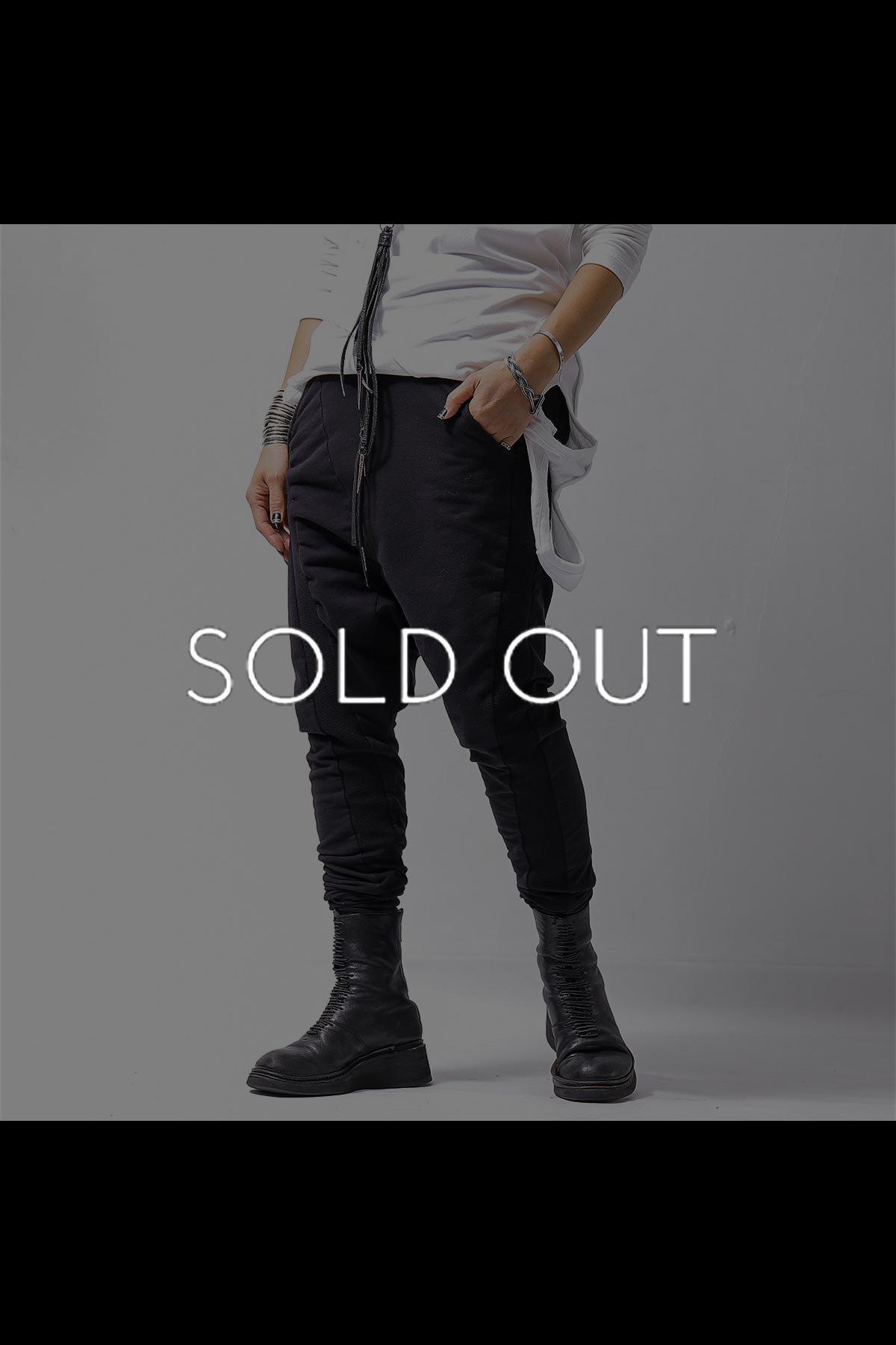 UNISEX SIDE RIB SWEAT PANTS P55_BLACK