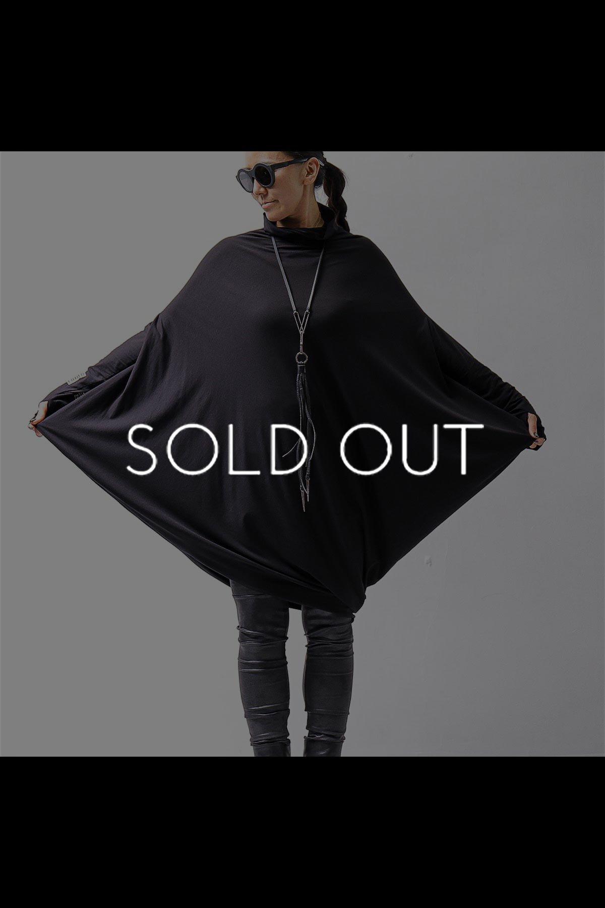 ASYMMETRY TOP DRESS D42_BLACK