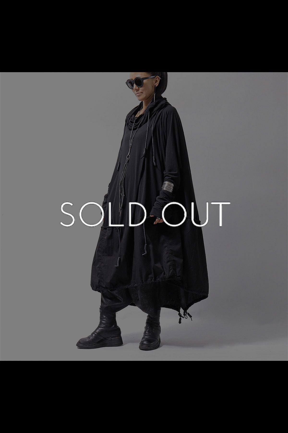 OVERSIZED 2 COTTON DRESS 256 0911_BLACK
