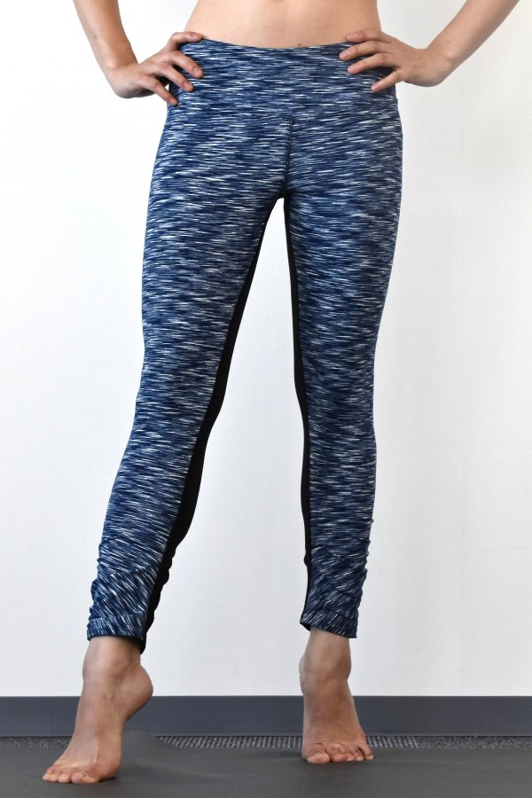 Ruched capri with black back [SUPN03-NAVY]