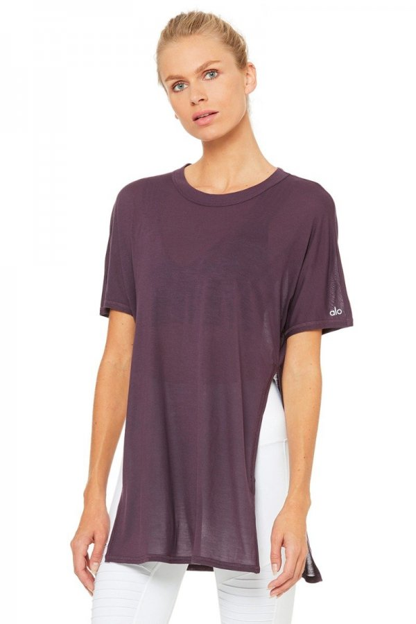 [DREAMER SHORT SLEEVE TOP]W1288R-Eggplant