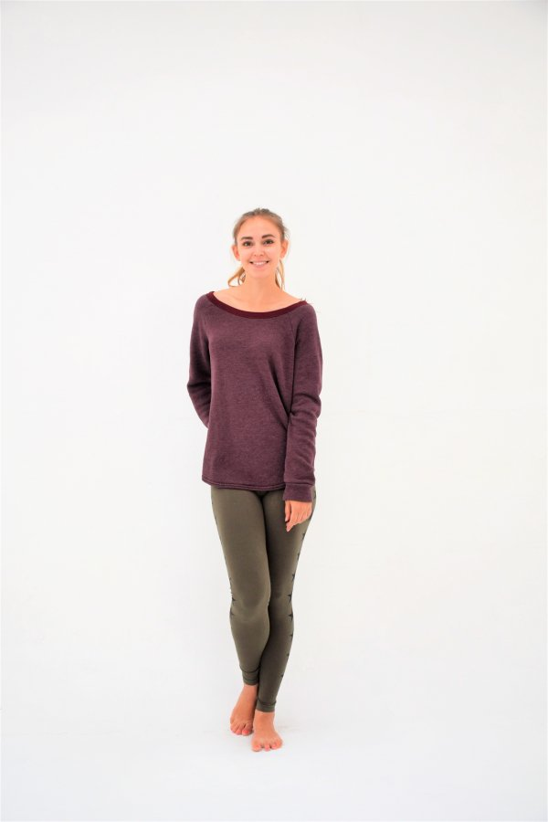<img class='new_mark_img1' src='//img.shop-pro.jp/img/new/icons24.gif' style='border:none;display:inline;margin:0px;padding:0px;width:auto;' />【SALE】 Holey Back Cozy Sweatshirt [SHE15-FIG]