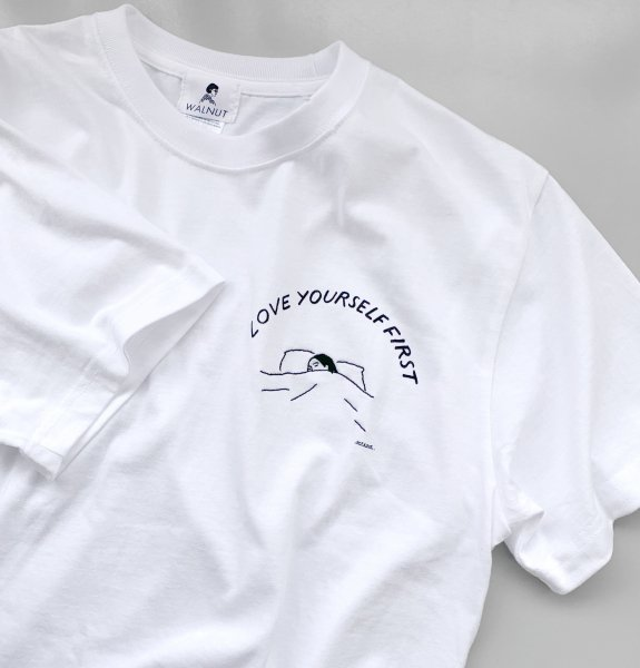 LOVE YOURSELF FIRST Tee WHITE