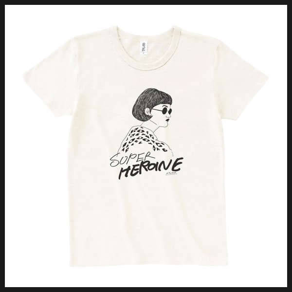 SUPER HEROINE Tee WHITE
