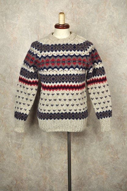 1980's ヴィンテージ 【WOOLRICH】ノルディック ニット セーター