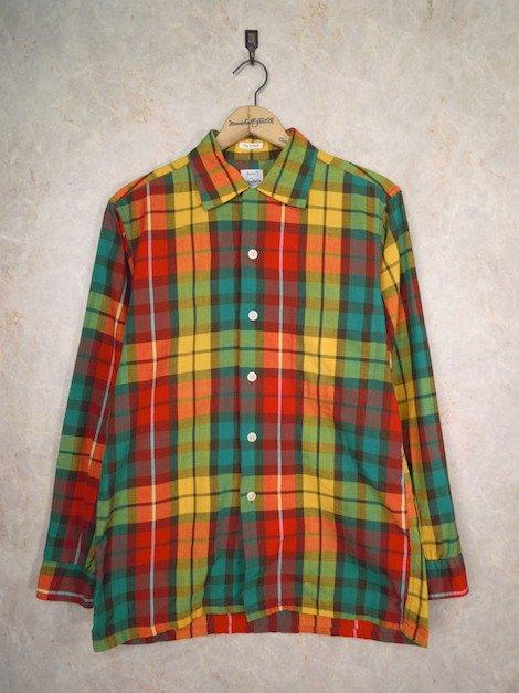 1960's オープンカラーヴィンテージチェックシャツ